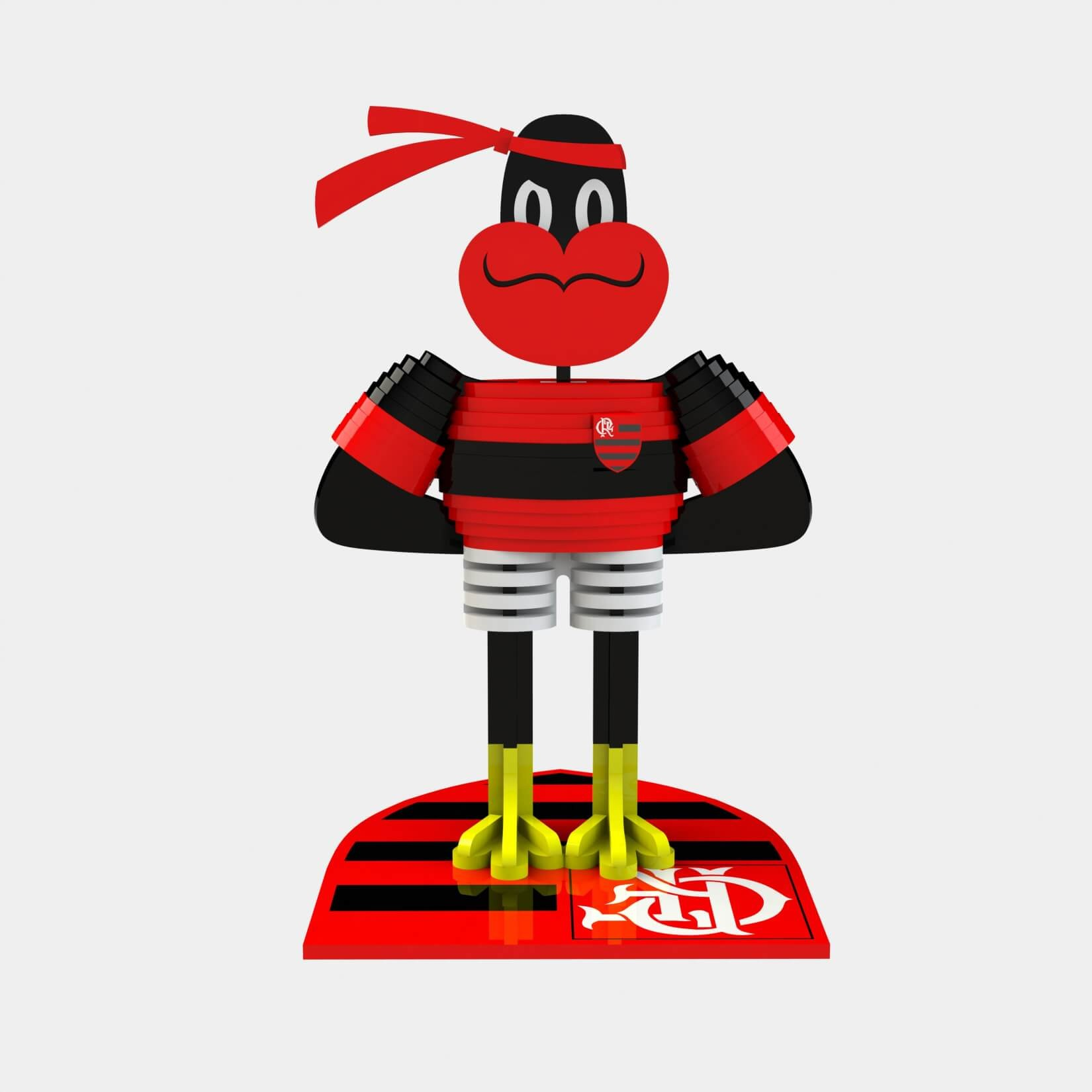 Mascote Flamengo Puzzle 3D