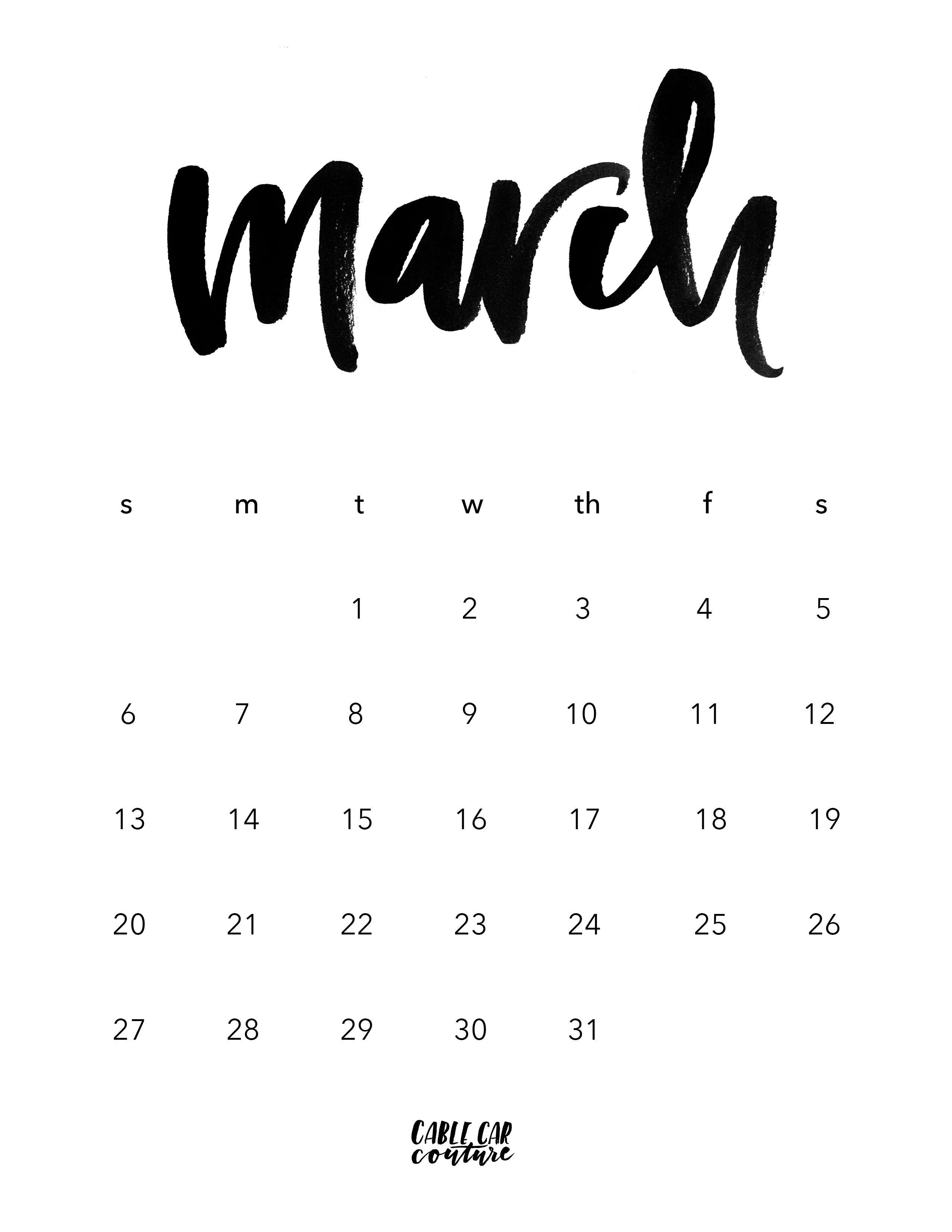 Calendario Dezembro 2017 Para Imprimir Excel Más Recientemente Liberado March Brush Calligraphy Calendar 2016 Jornal Of Calendario Dezembro 2017 Para Imprimir Excel Más Actual Maria Sissi Sambasissi No Pinterest