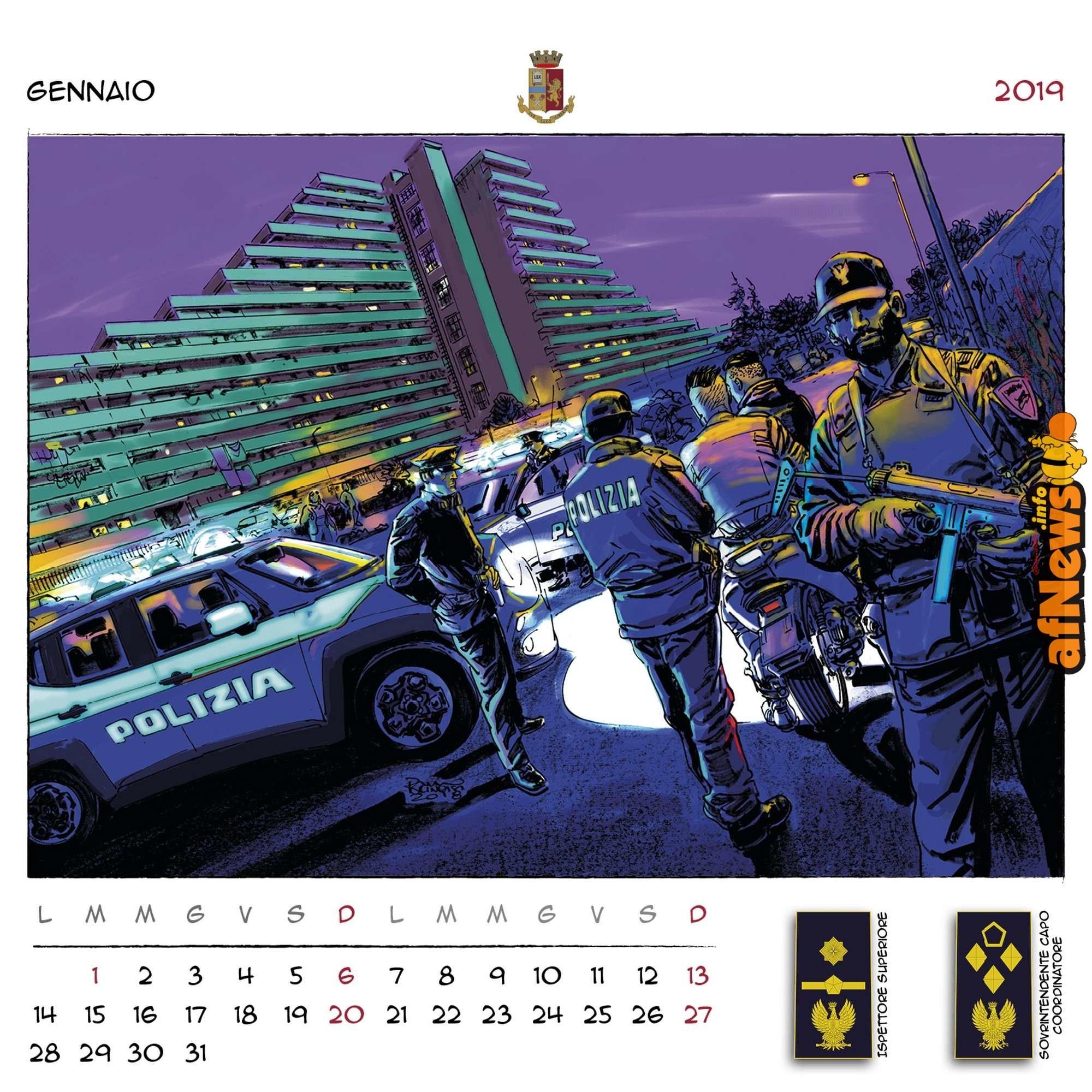 Calendario Polizia di Stato 2019