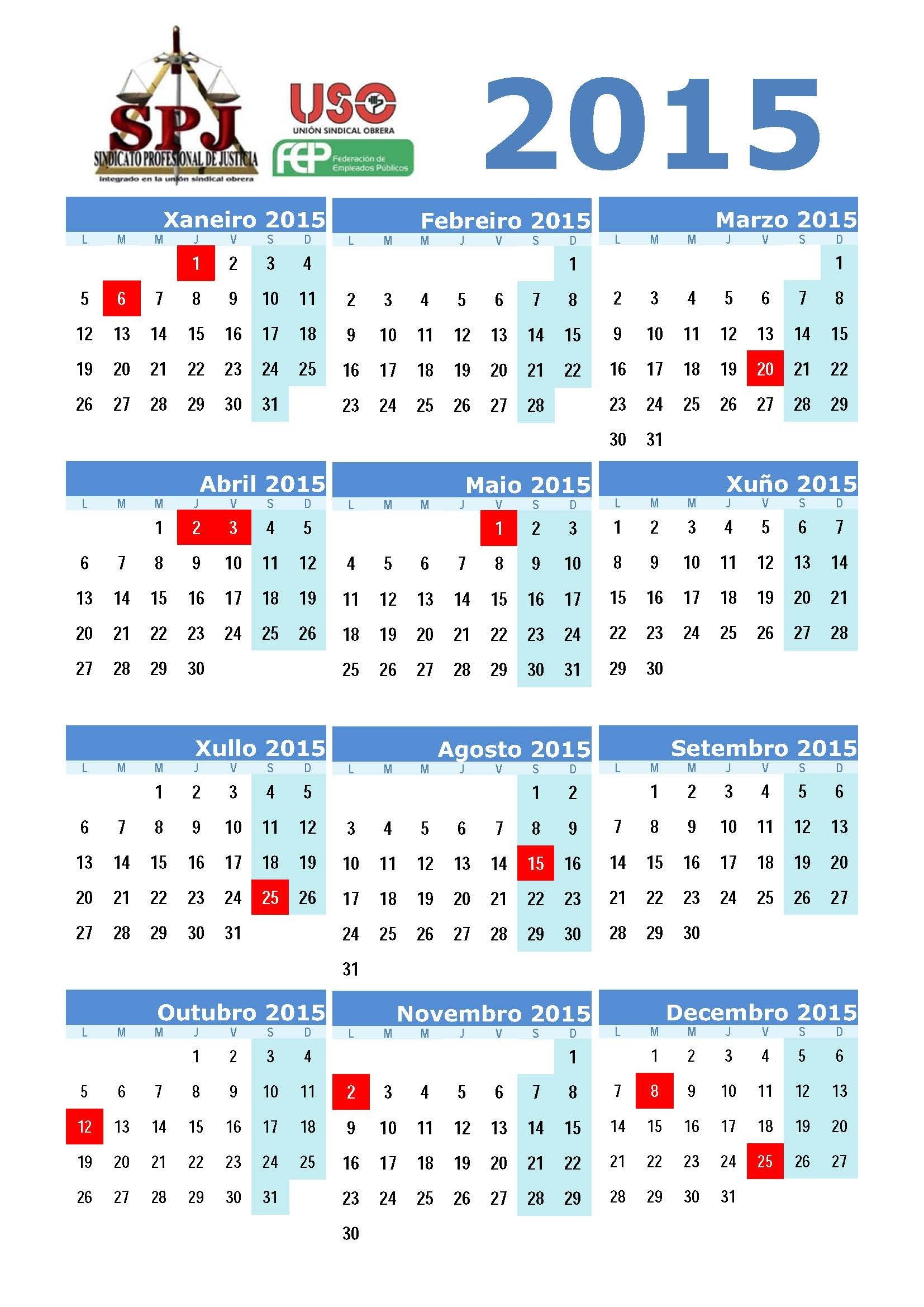 calendario laboral galicia 2015