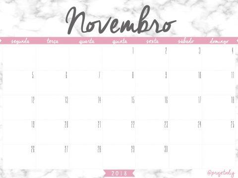 Calendário Do Pis 2018 E 2019 Tabela Más Recientes Calendario Novembro 2018 Imprimir T