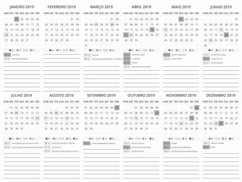 Calendario Do Pis 2019 Para Quem Tem Conta Na Caixa Más Recientemente Liberado Calendario Ade Uma 2019 Calendario 2019 Para Imprimir Fazendo A