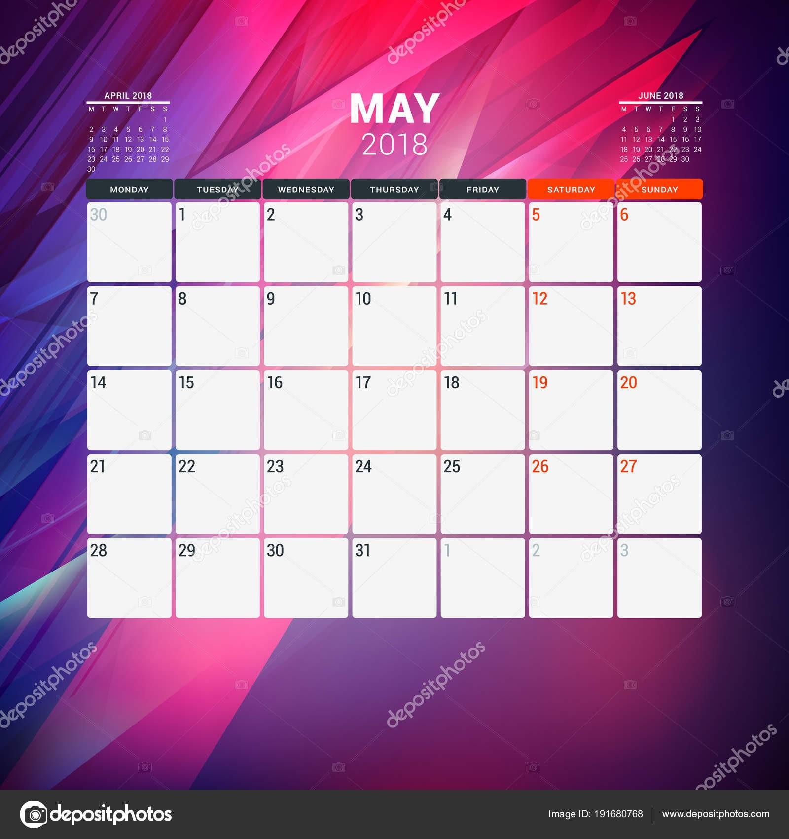 interesting plantilla de diseo calendario con la semana empieza el with diseo de calendario