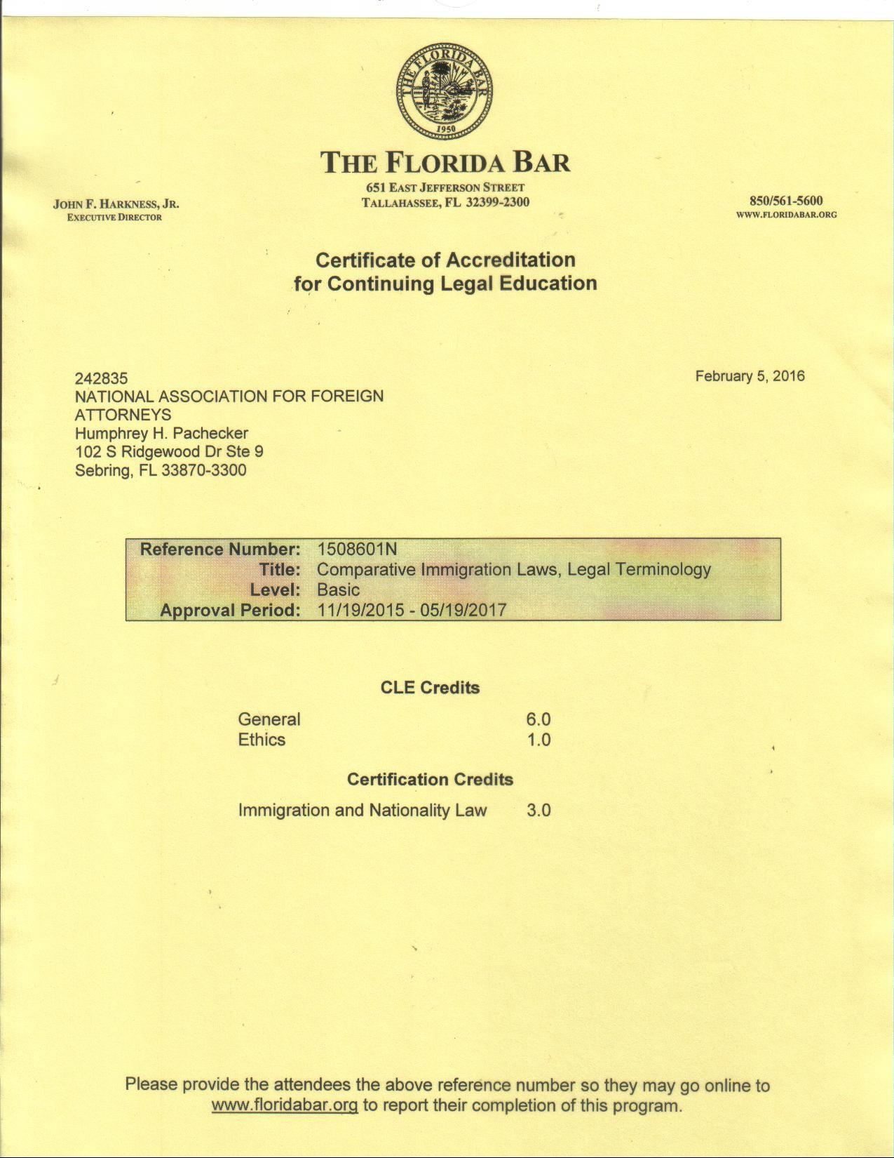 NAFA OCCUPATIONAL LICENSE 013