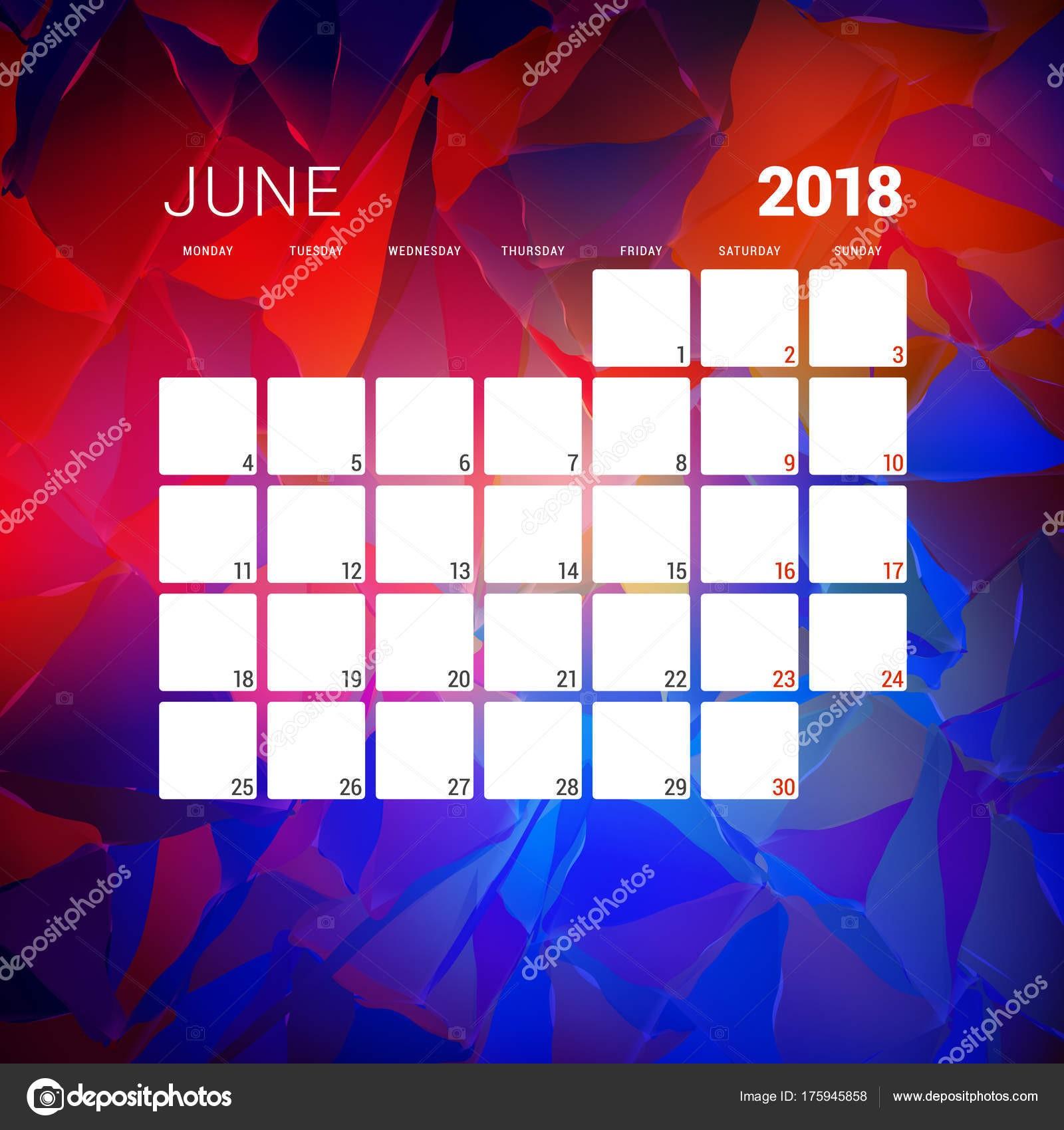 excellent plantilla de diseo calendario con la semana empieza el with diseo de calendario