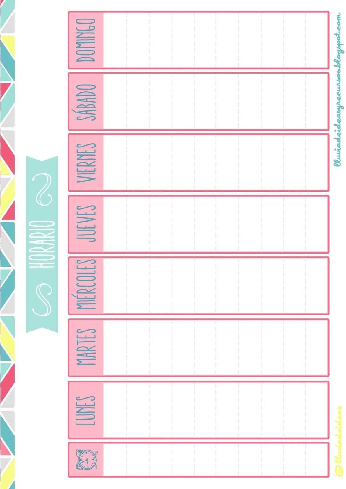 Calendario Escolar 2016 Y 2017 Para Imprimir Más Actual Calendario Semanal Gratis Listo Para Descargar