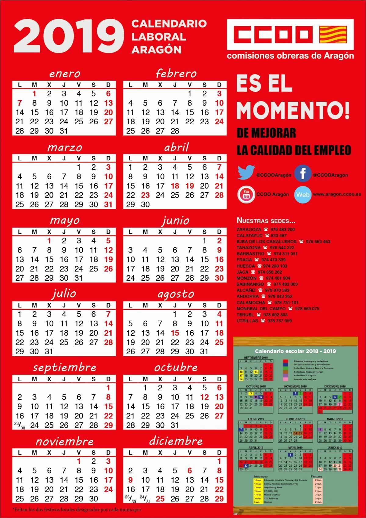 Calendario Escolar 2019 Aragon Actual Luna De Octubre Madrid 2019 Shamsdubai