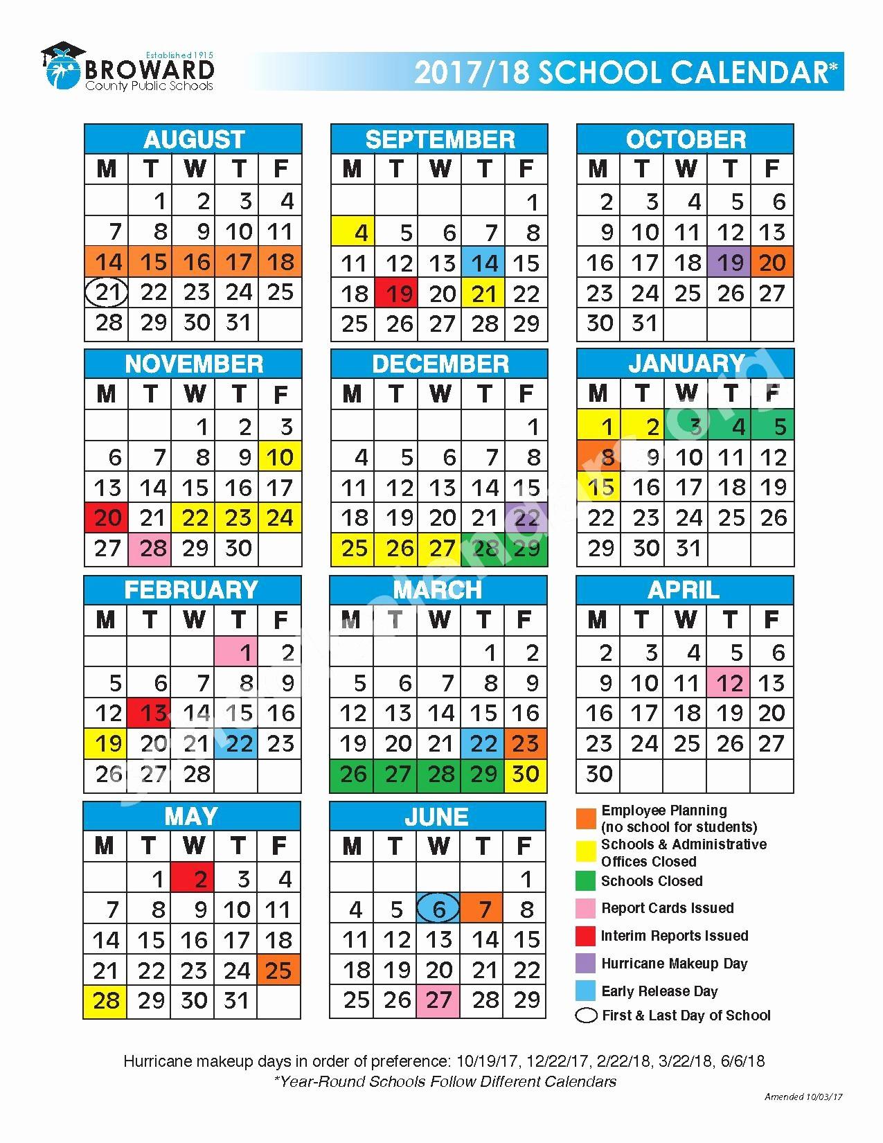 Calendario Escolar 2019 Broward Actual Tag Miami Dade Calendar 2017 18