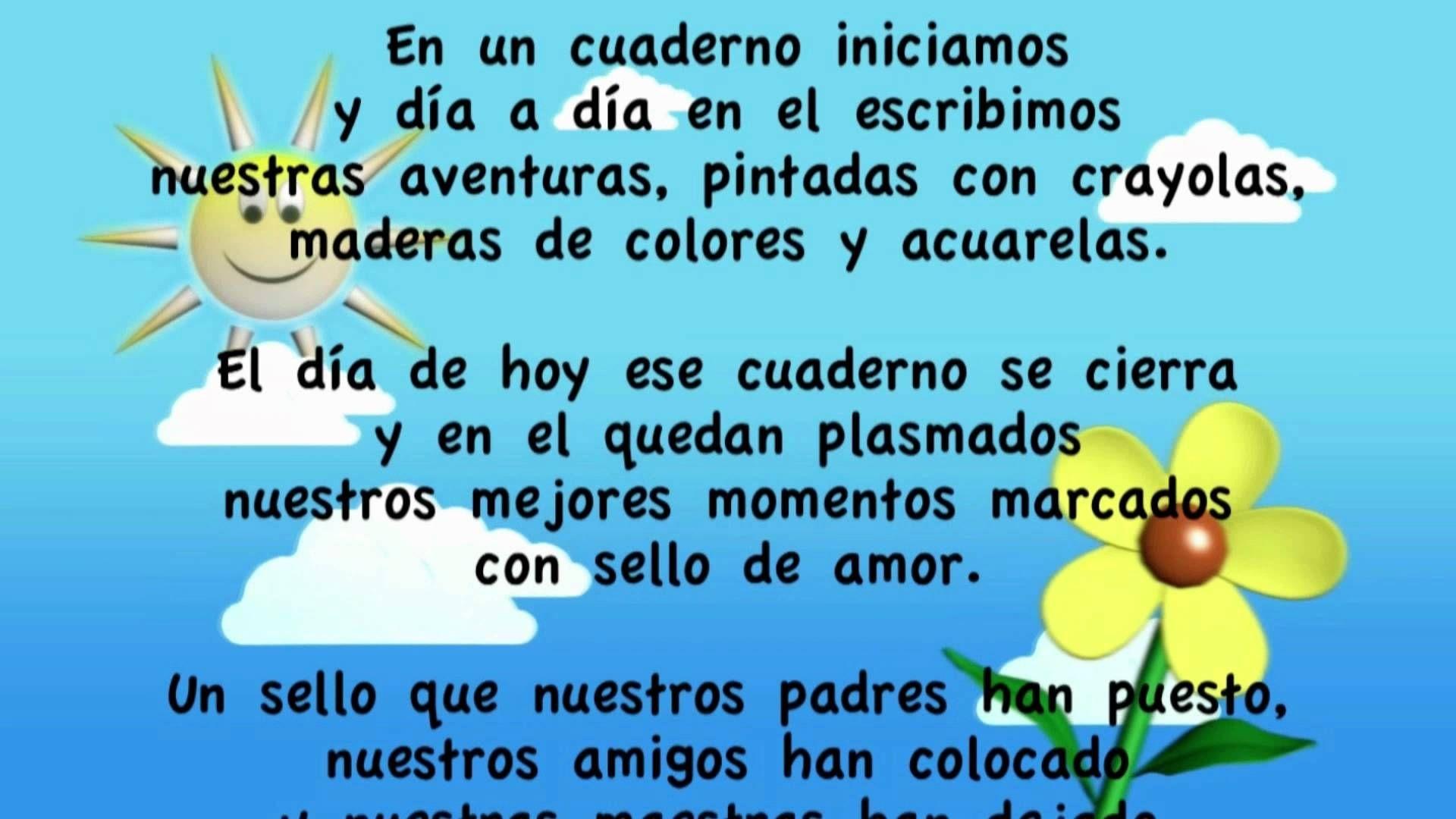 Poema para la graduaci³n de Kinderrv