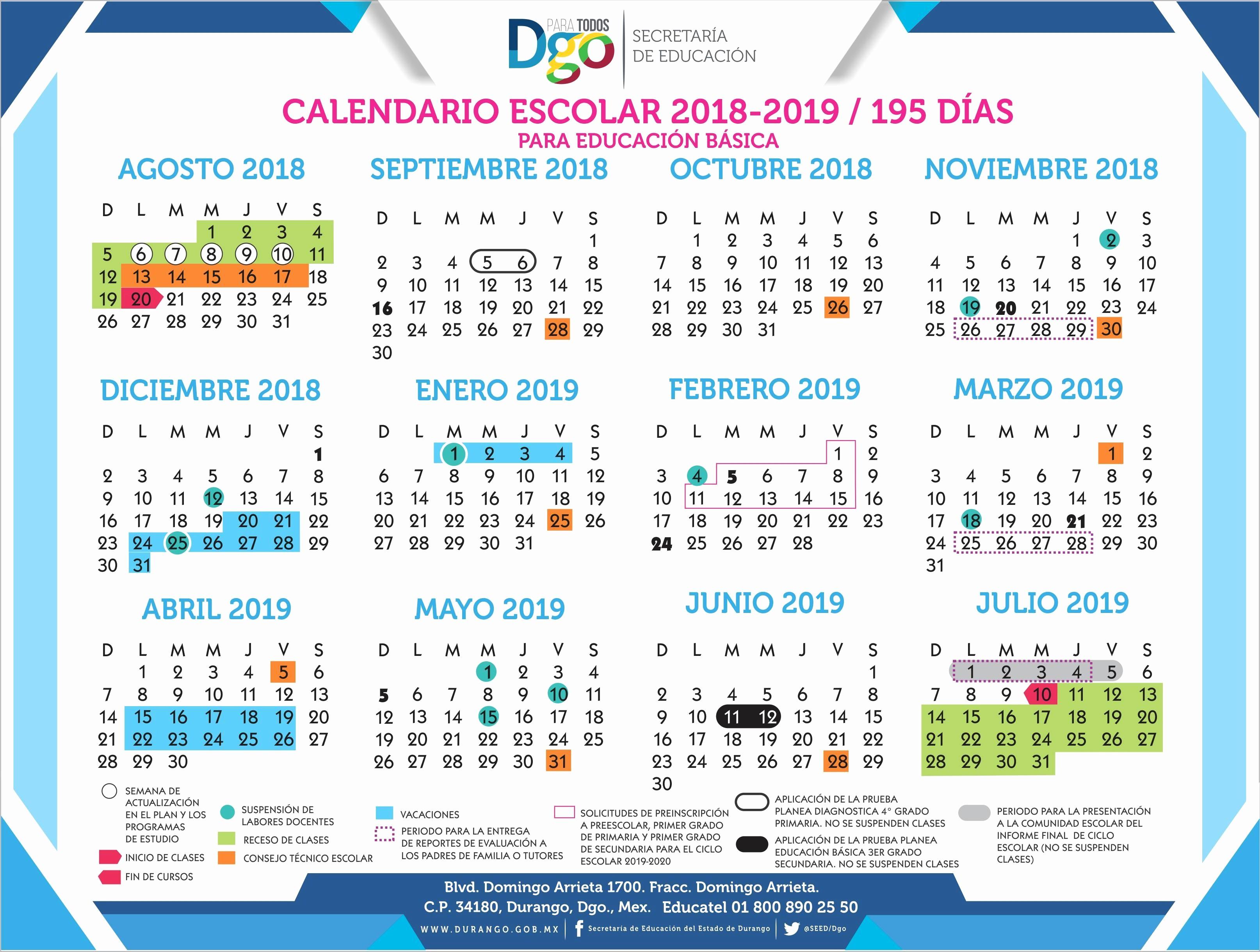 Calendario Escolar 2019 Durango Más Caliente Fresh 42 Ejemplos Calendario Escolar Ferias 2019 Shamsdubai Net Of Calendario Escolar 2019 Durango Más Recientes Calaméo Gara