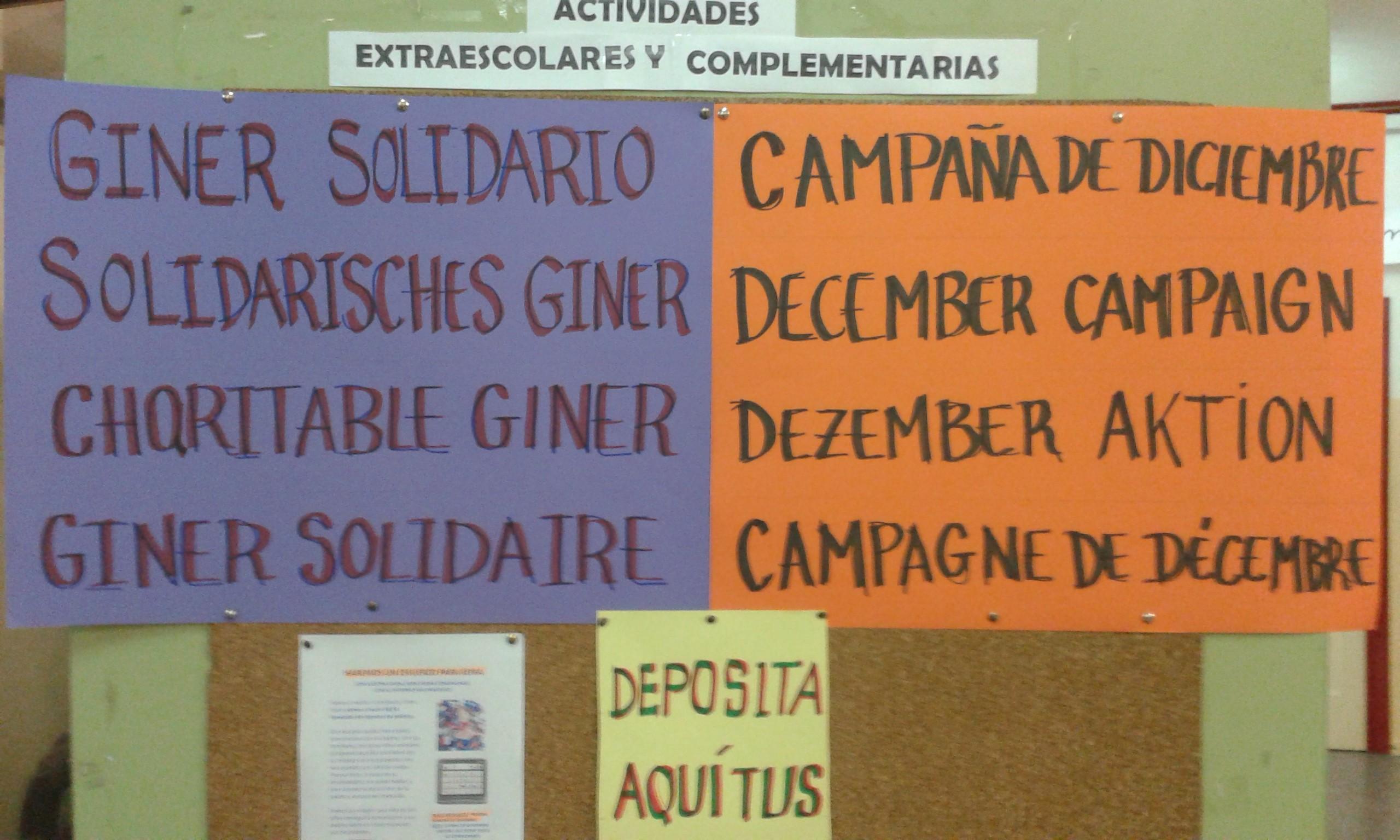 Cartel Giner Solidario