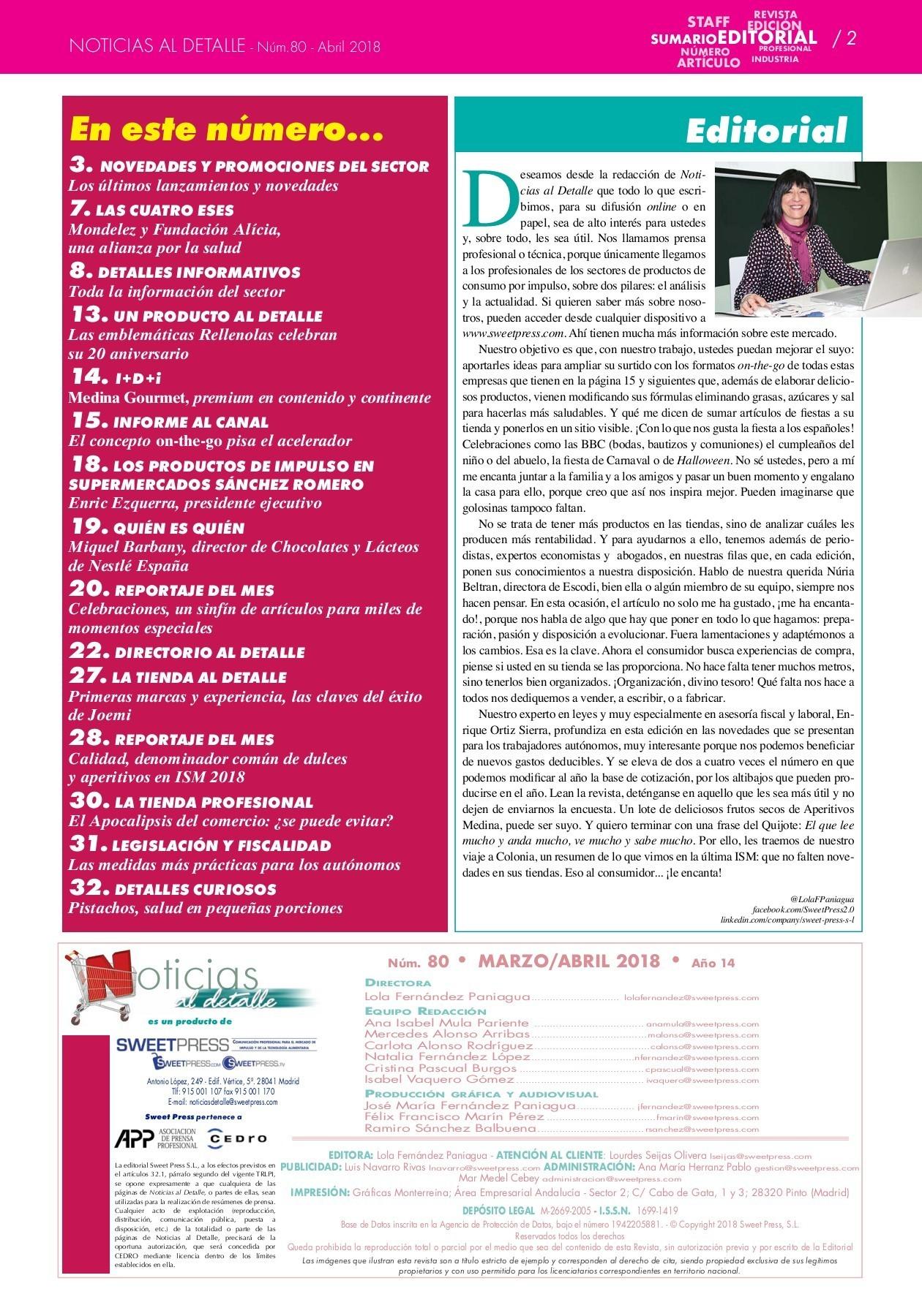 Noticias al Detalle nºm 80 marzo abril 2018 Pages 1 32 Text Version