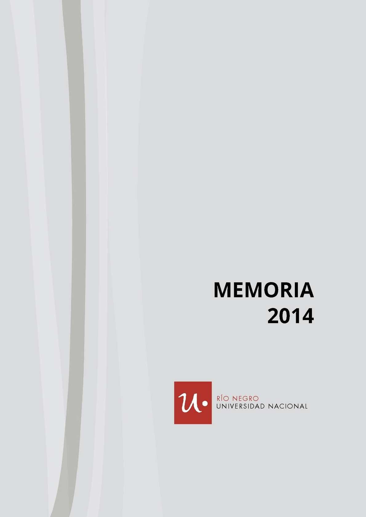 Calaméo Memoria 2014