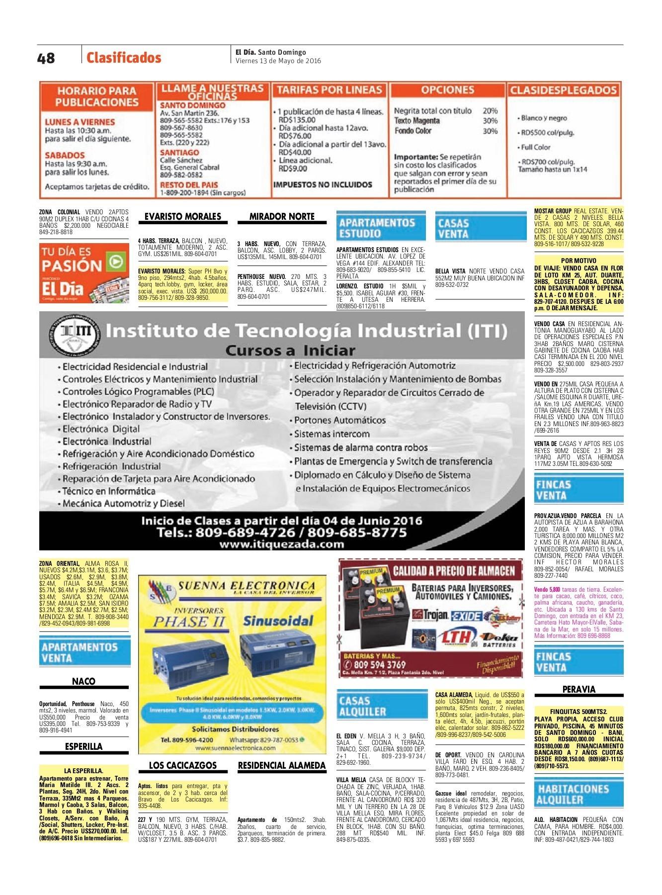 Edici³n impresa 13 05 2016 Pages 51 63 Text Version