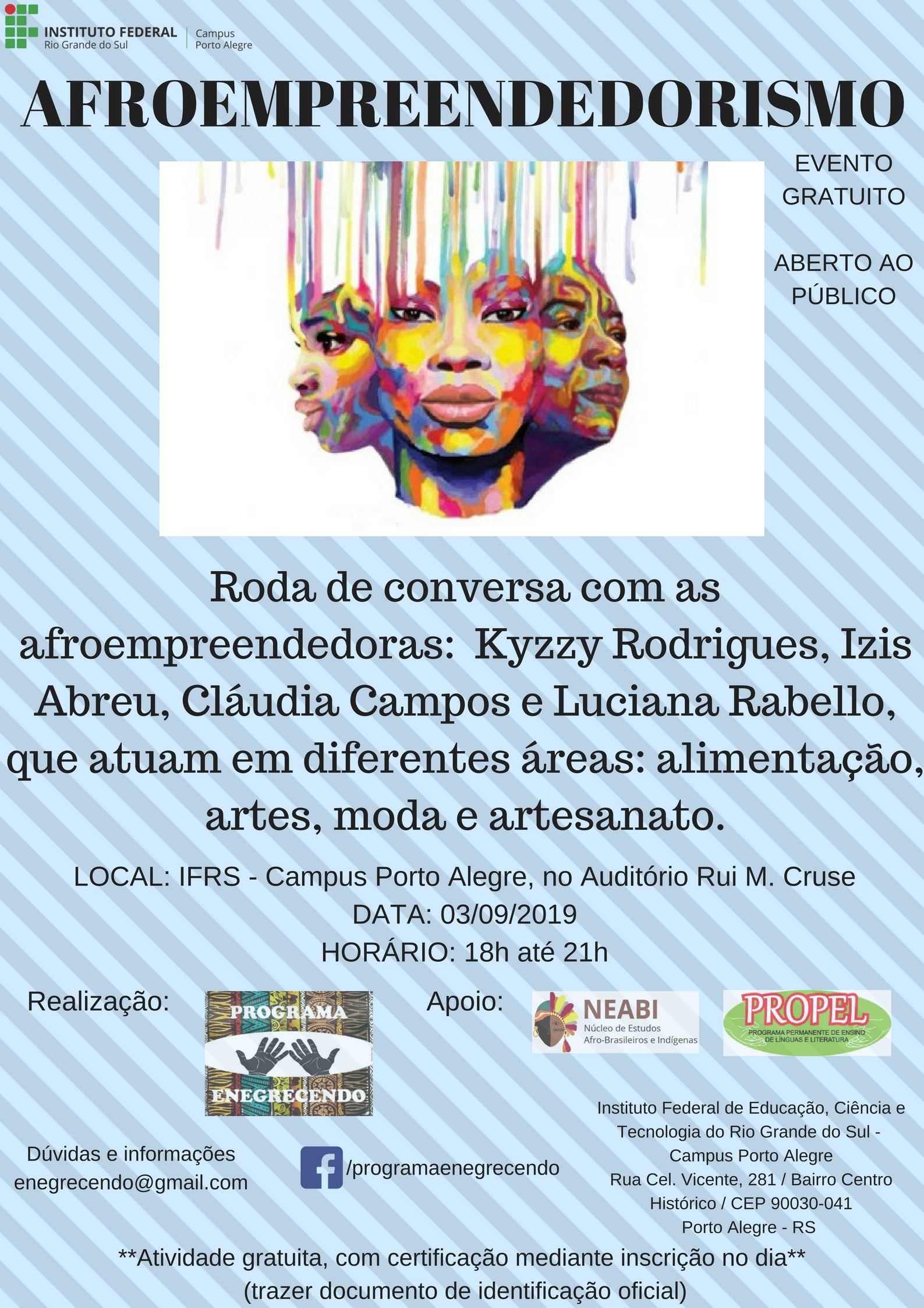 Evento sobre Afroempreendedorismo acontece dia 03 9 no Campus Porto Alegre