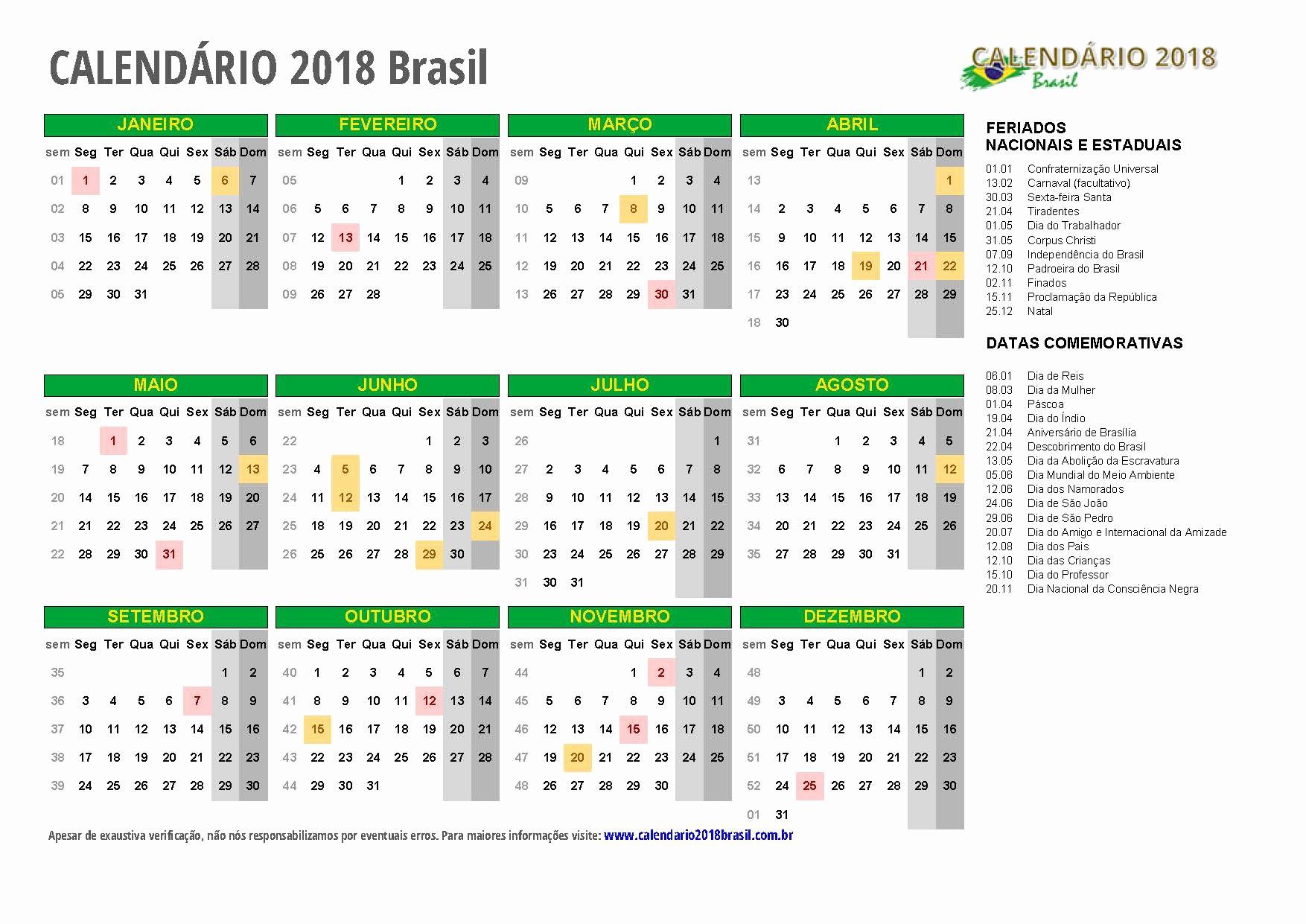 Calendario Mundial Resistencia 2019 Calendario 2018 Feriados todos Os Estados