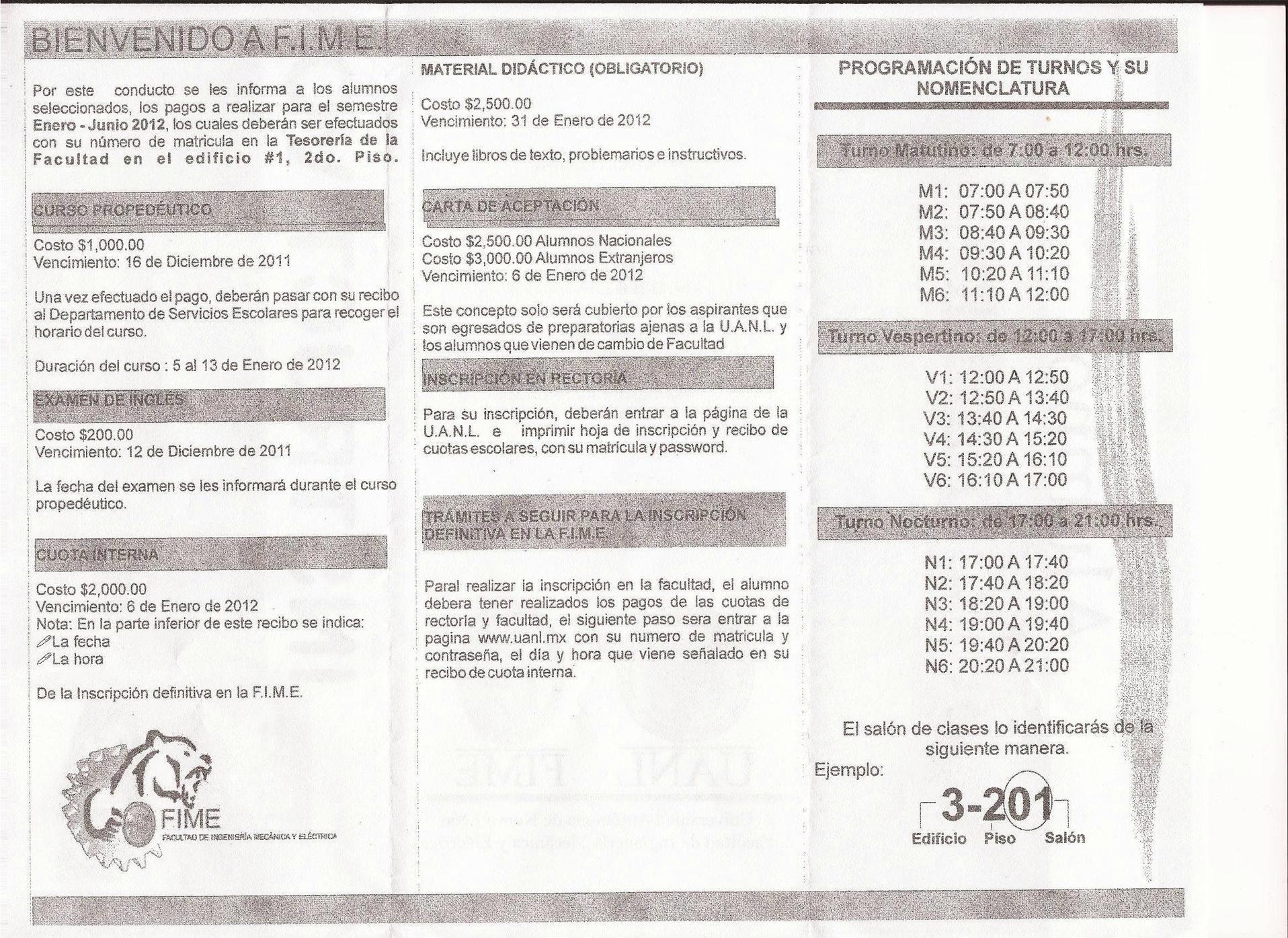 Primer Ingreso Info [Archivo] FIME