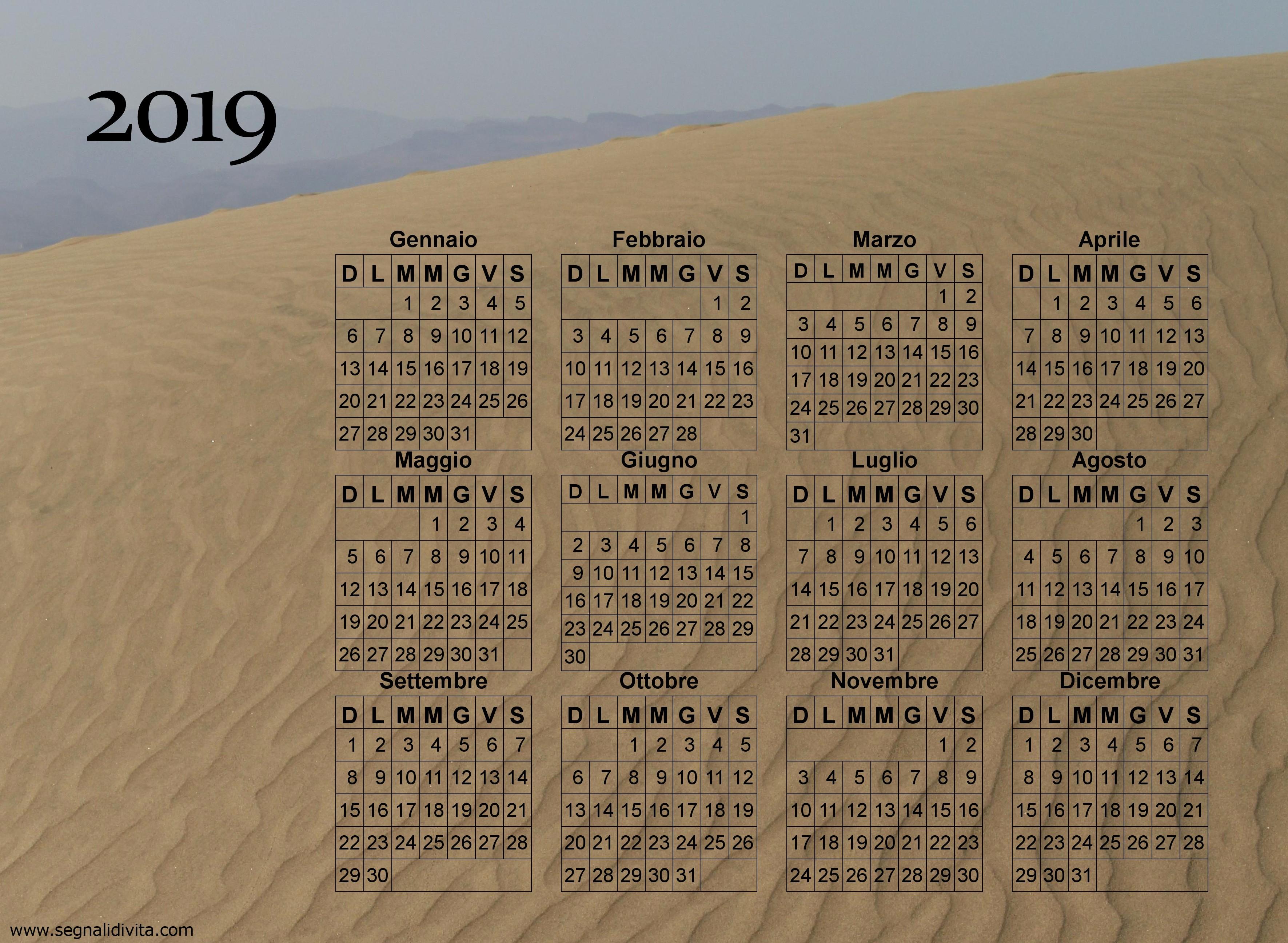 1997 Calendario 2019 Calendario Fotografico Da Stampare Del 2019