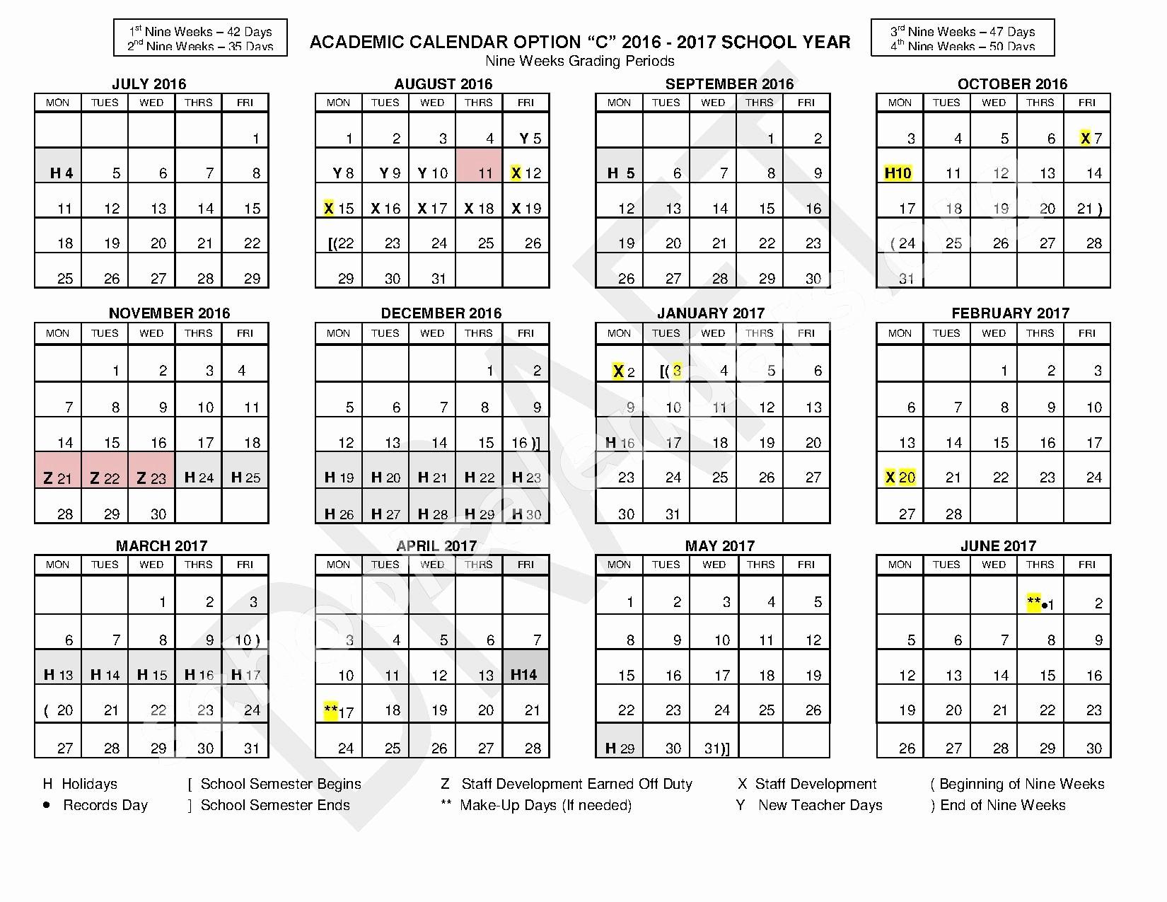 Hisd Calendar 2018 fordham University Academic Calendar Nitte
