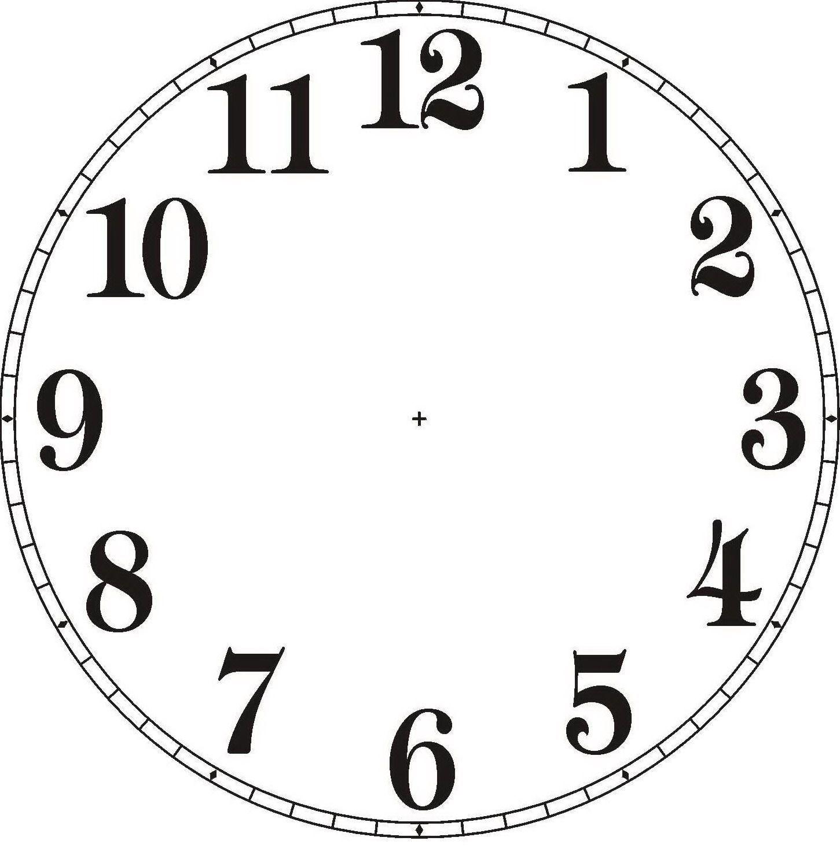 Plantillas para hacer Relojes de Pared Esferas para Decorar