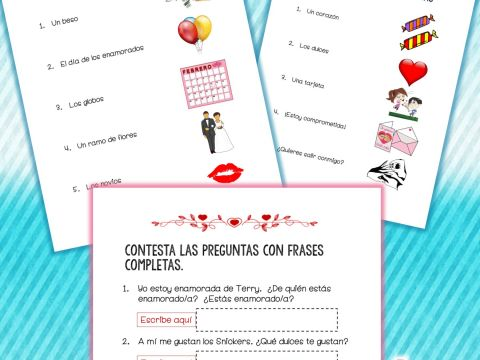 Calendario Escolar Madrid Imprimir Más Arriba-a-fecha Spanish Google Drive Activities Valentine S Day Vocabulary San