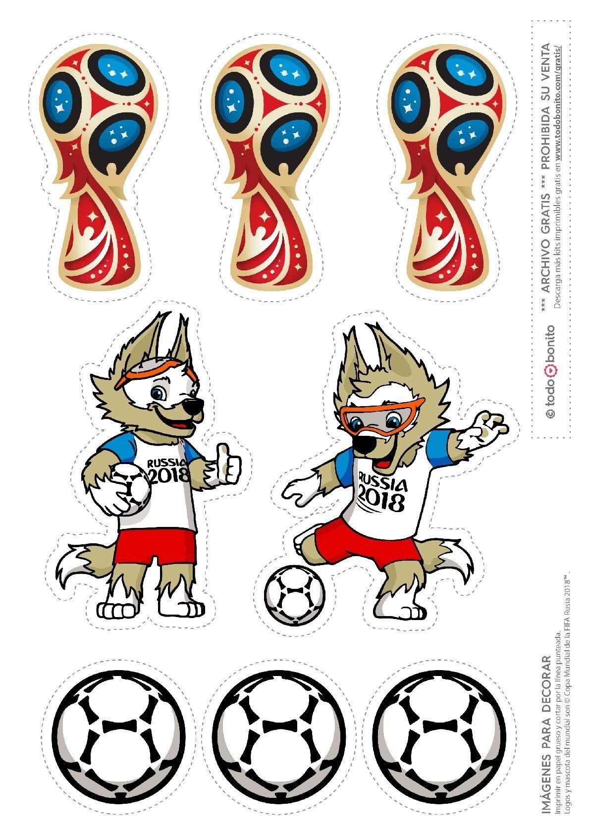 Resultado de imagen para tematica del mundial 2018 Birthday Cup Soccer Birthday World Cup