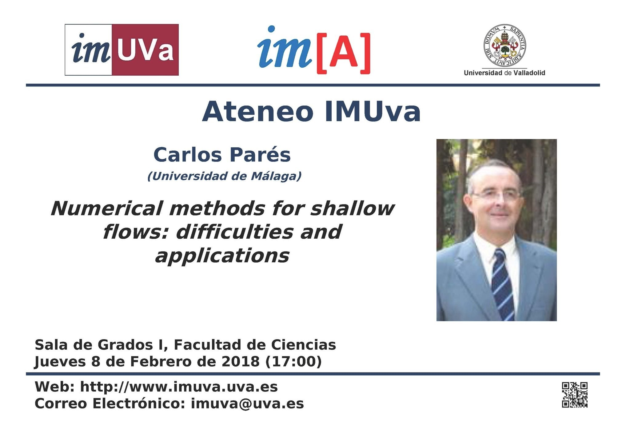 "Ateneo IMUVa ""Numerical methods for shallow flows"""