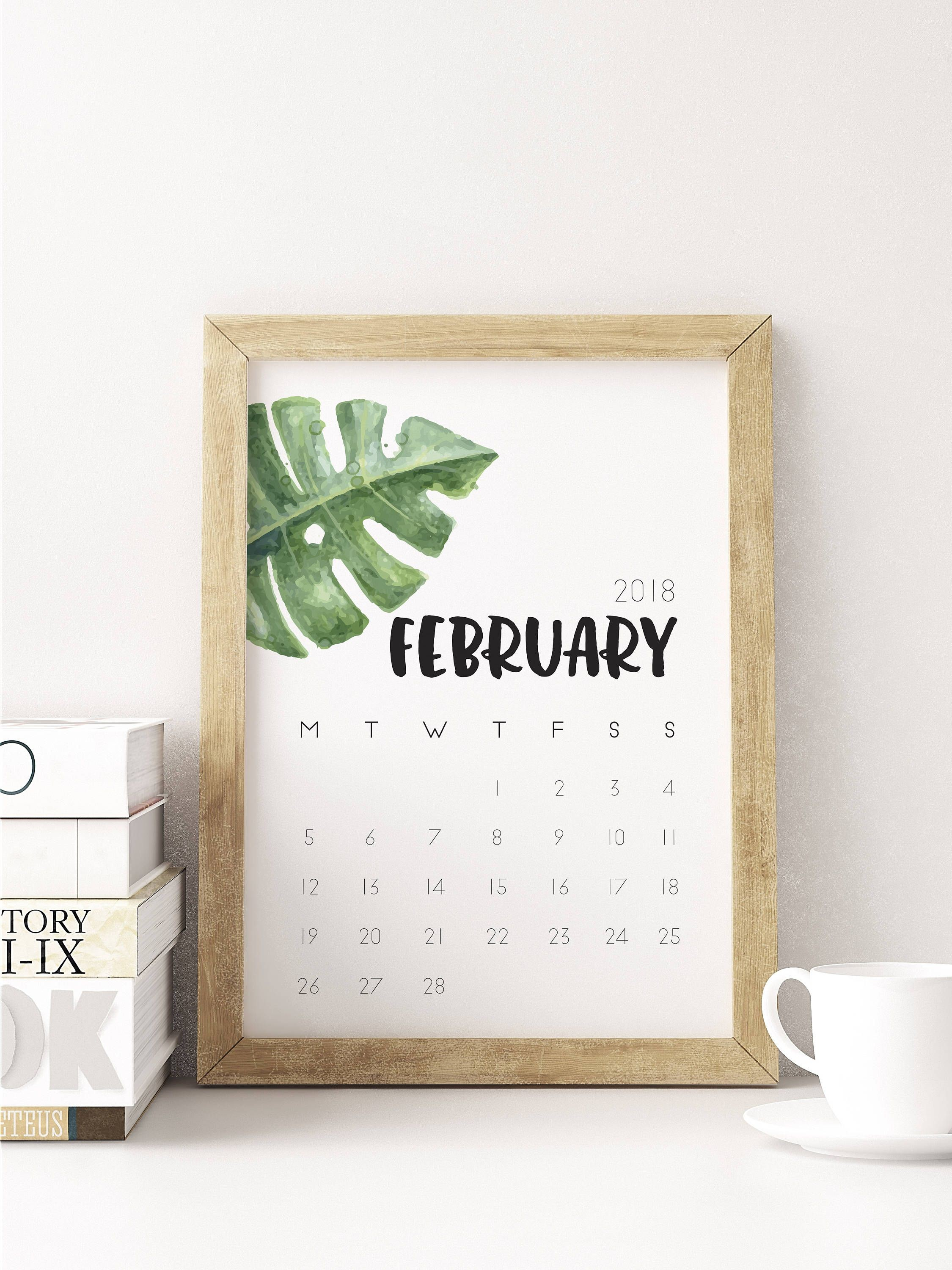 Calendario Febrero 2018 Editable Más Arriba-a-fecha February 2018 Calendar Printable Wall Art Planner organiser Of Calendario Febrero 2018 Editable Más Populares Pin by 4khd On August Month Calendar 2018