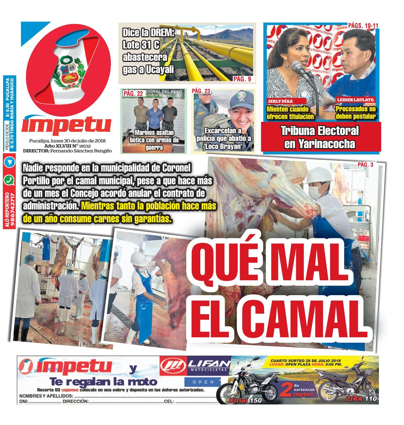 Impetu 30 de Julio del 2018 by Diario mpetu issuu