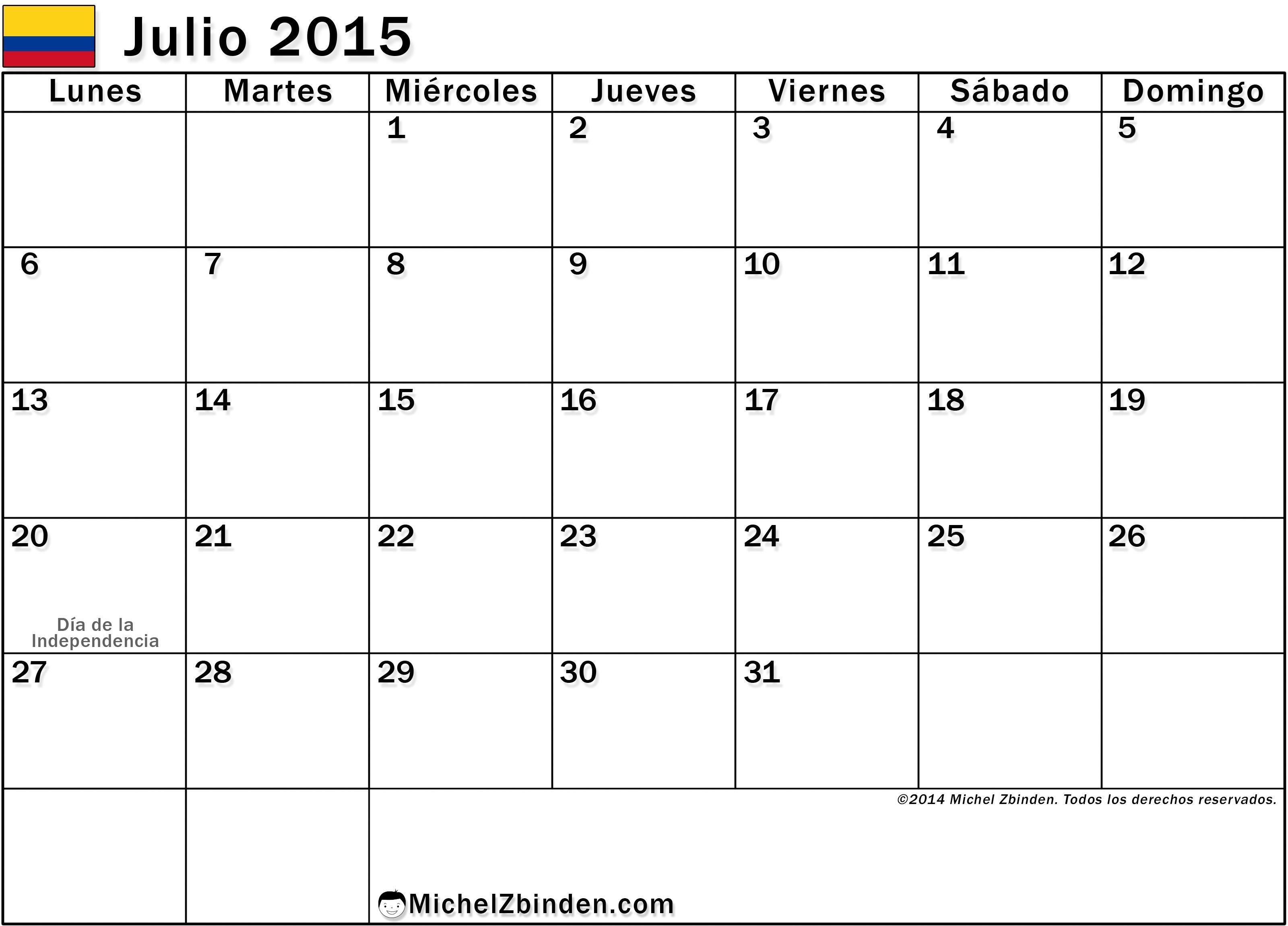 Calendario en blanco Buscar con Google julio 2015 agosto 2016