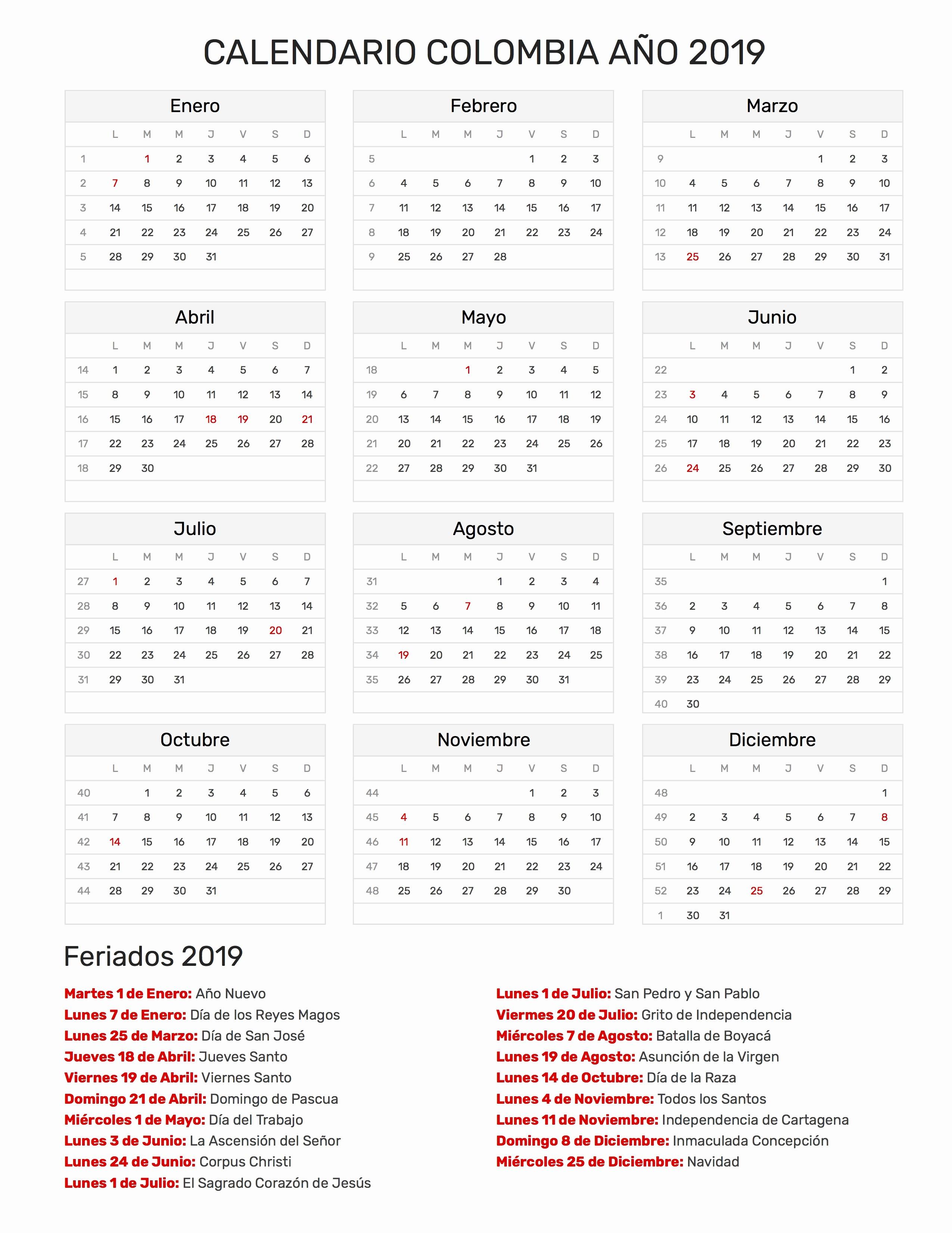 Calendario Febrero 2018 Pdf Más Caliente Calendario Dr 2019 Calendario Colombia Ano 2019 Feriados Of Calendario Febrero 2018 Pdf Más Reciente eventos