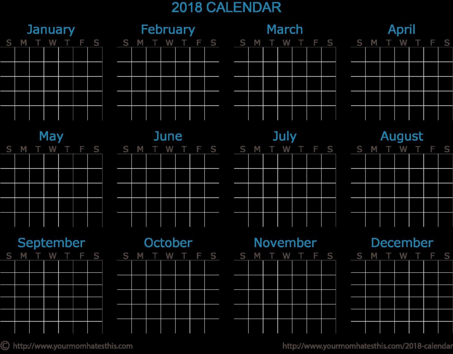2048 Calendar 2018 Calendar Download Quality Calendars