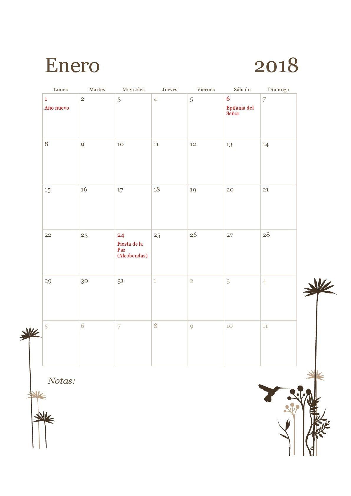 Ya puedes organizar tu 2018 Aqu tienes 15 plantillas del calendario laboral 2018 de Madrid