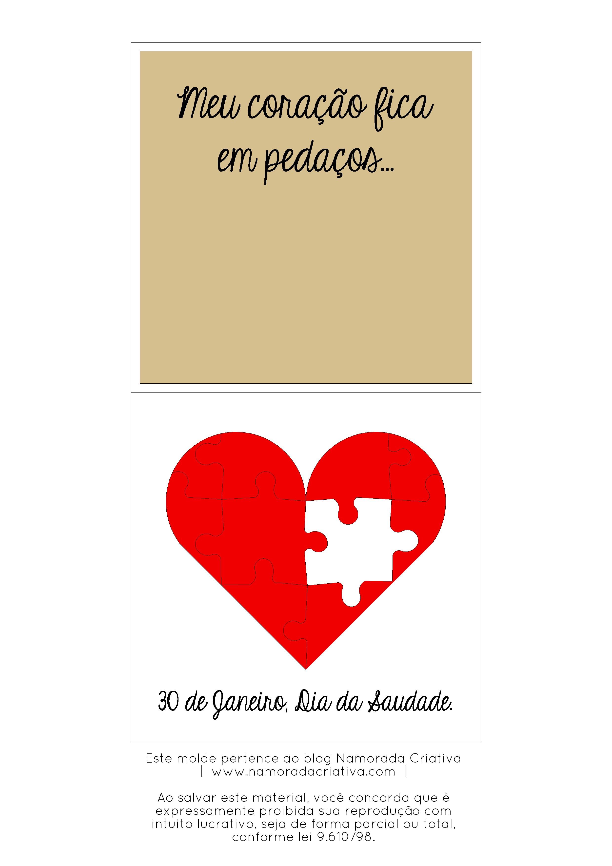 """Calendario Fevereiro Imprimir Más Populares Diy Dia Da Saudade – Cart£ozinho """"s³ Vocª Me Pleta """" Of Calendario Fevereiro Imprimir Más Arriba-a-fecha 23 Best Calendar 2013 Images On Pinterest"""