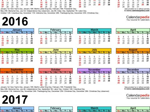 Calendario Fiscal 2019 Mexico Más Reciente 2015 2016 2017 Calendar 4 Three Year Printable Pdf Calendars