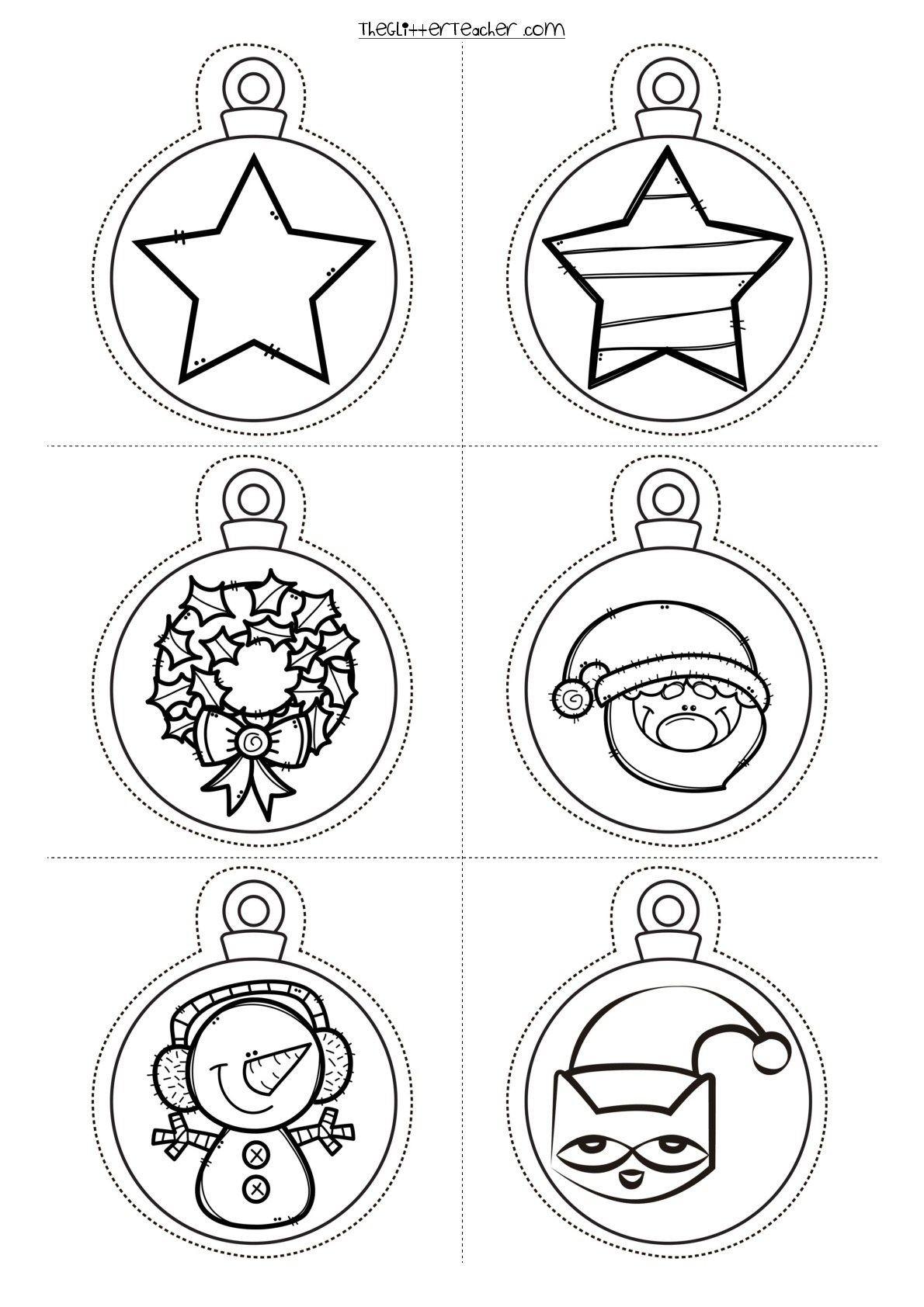 decora tu clase Divertidas Bolas de navidad para imprimir y colorear Orientacion Andujar