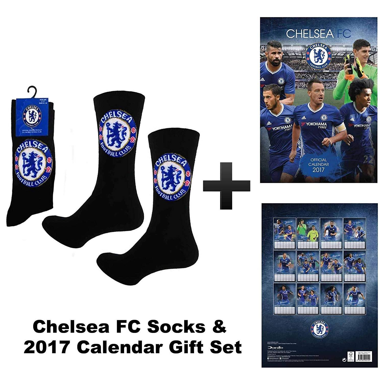 Chelsea FC 2017 Soccer Kalender Und Socken Geschenk Set Amazon Sport & Freizeit
