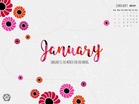 Calendario Imprimir 2019 Pinterest Más Recientemente Liberado Cute January 2019 Calendar Wallpaper