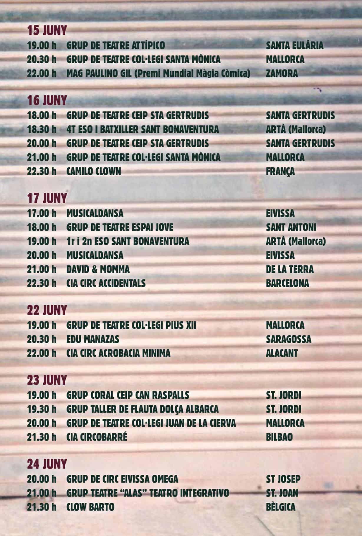 Programa de El Festn 2018