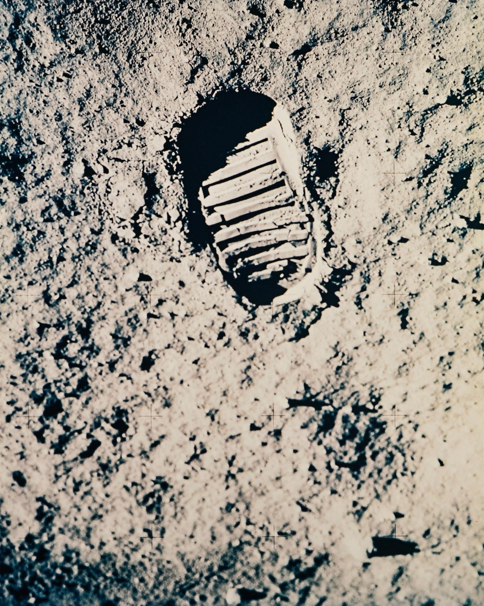 La huella del hombre en la Luna