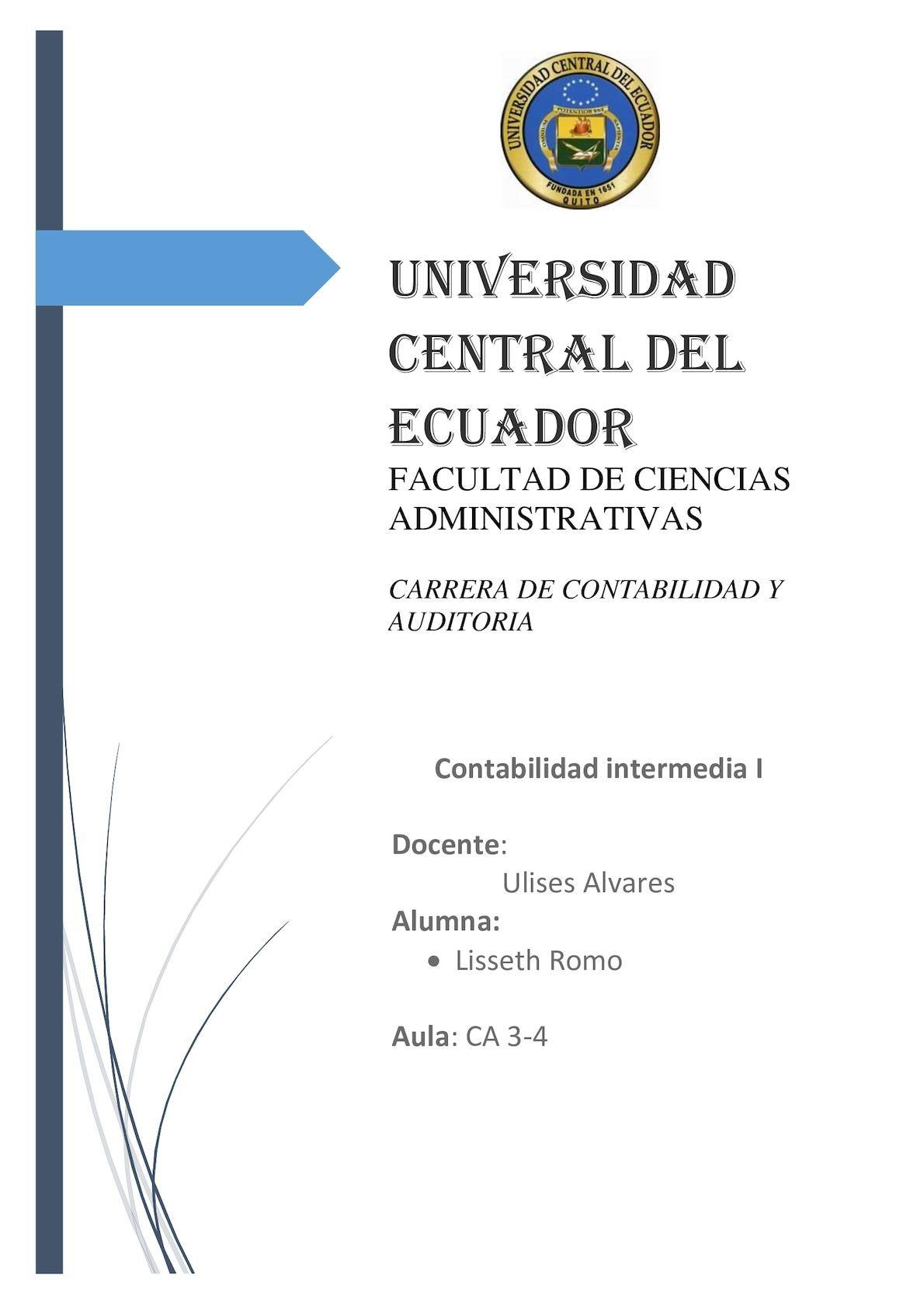Calaméo Romo Rojas Lisseth Cuaderno Materia Contabilidad Intermedia I