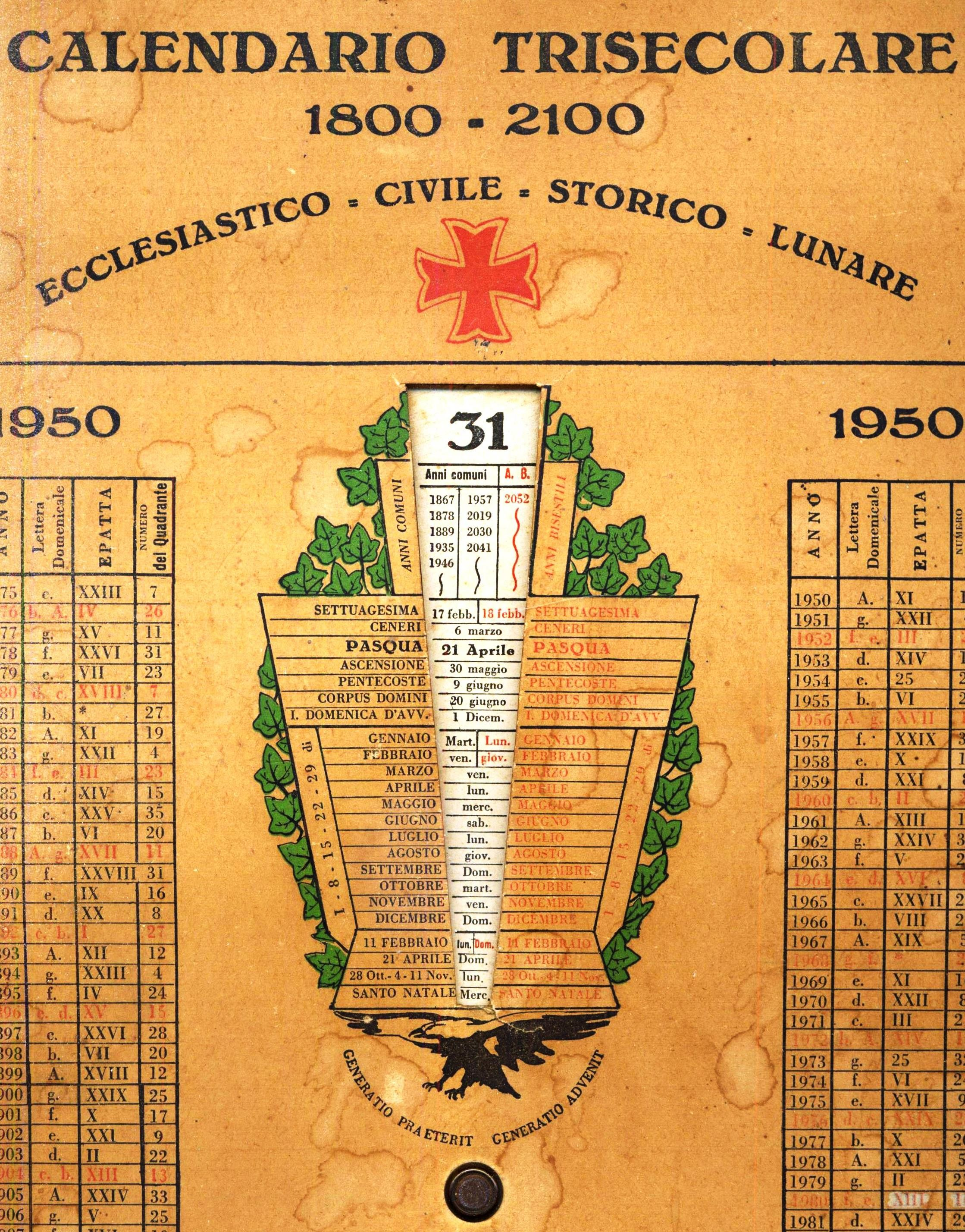 Calendario Trisecolare