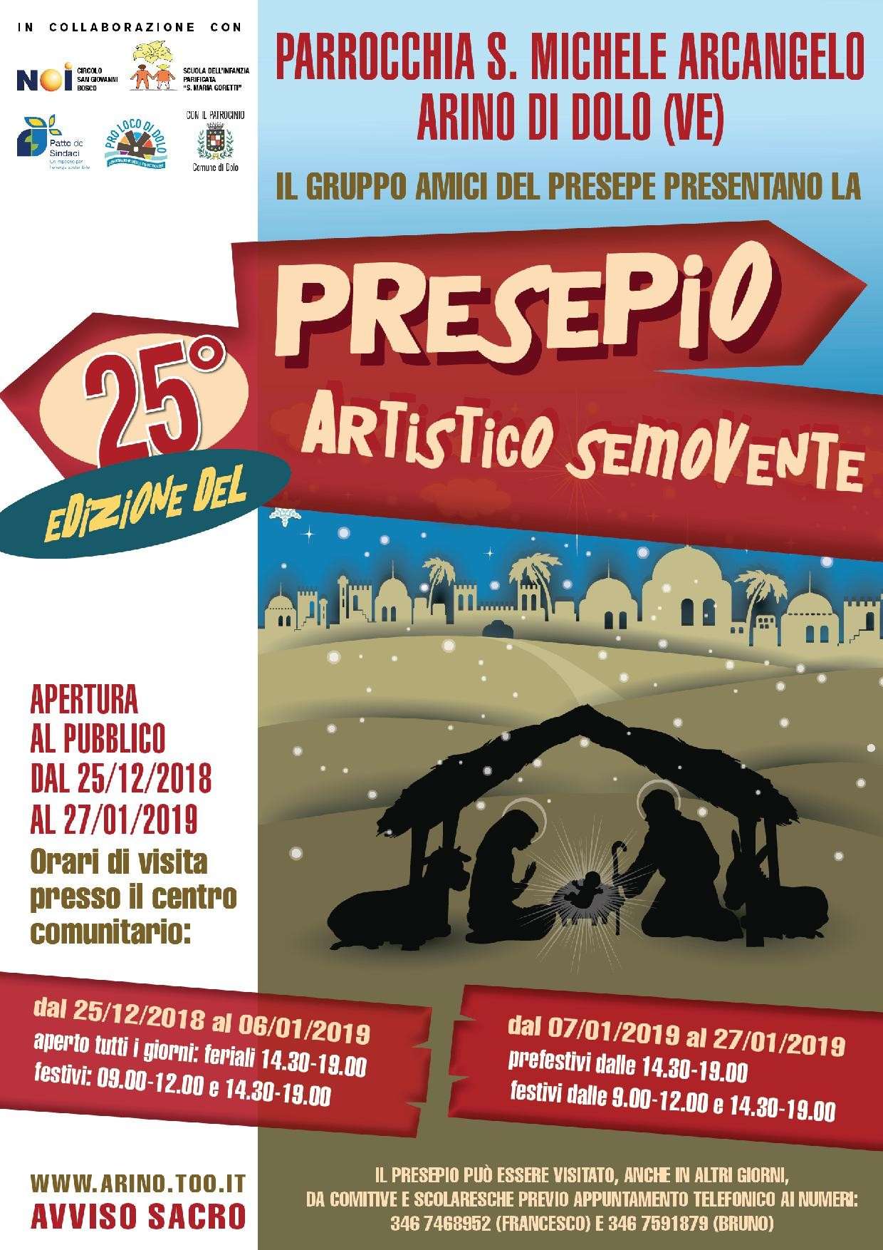 25° PRESEPIO ARTISTICO SEMOVENTE AD ARINO