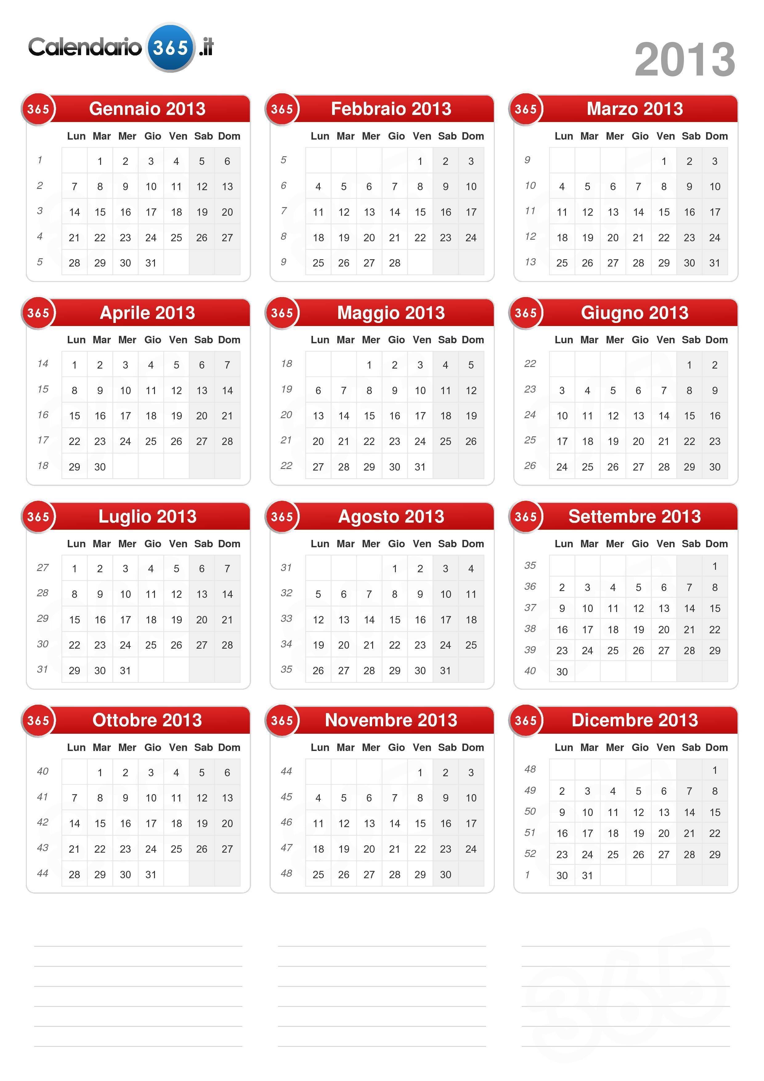 Calendario 2013 formato ritratto v2