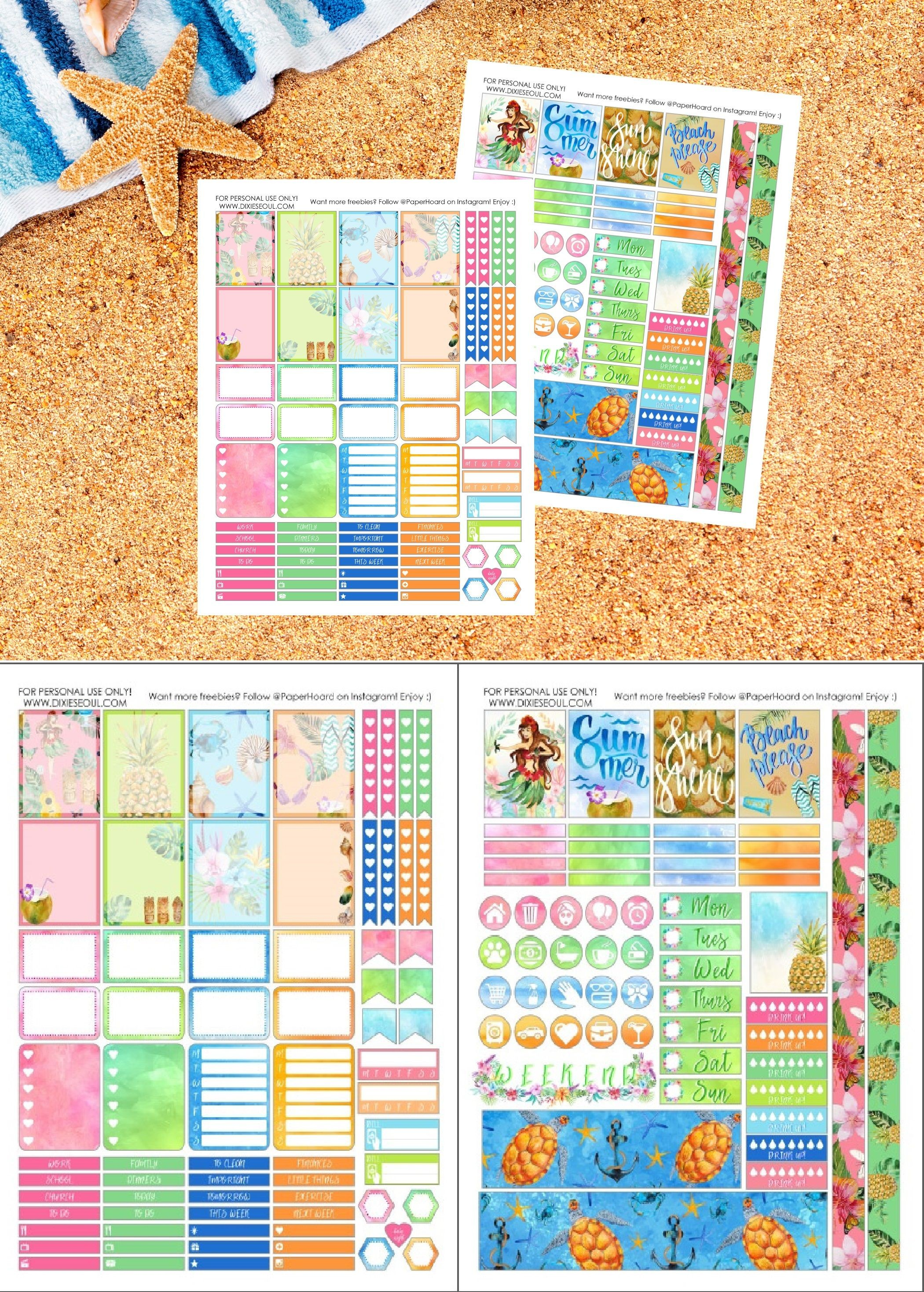 "FREE PRINTABLE Oh so perfect for summer ""Aloha Beaches"" is"