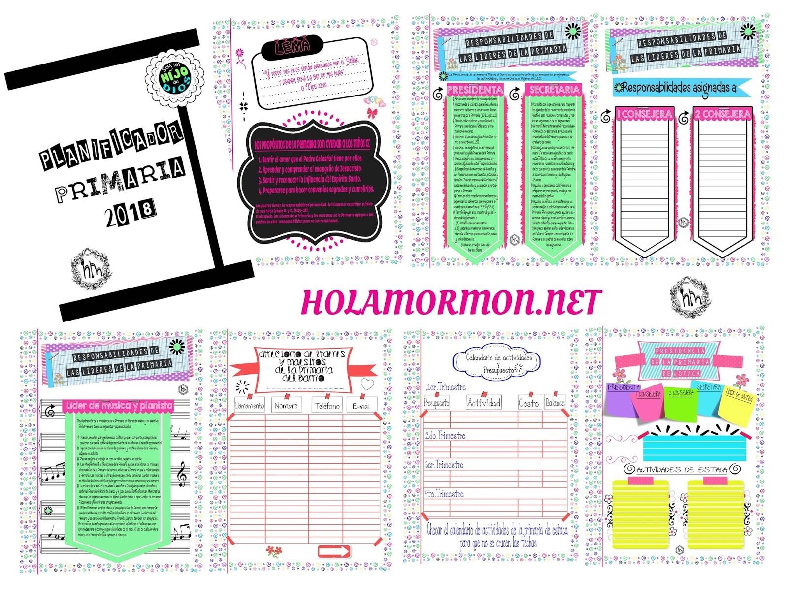 Calendario Mes De Abril Para Imprimir 2019 Más Populares Holamormon3 Primaria Lds Sud 2018