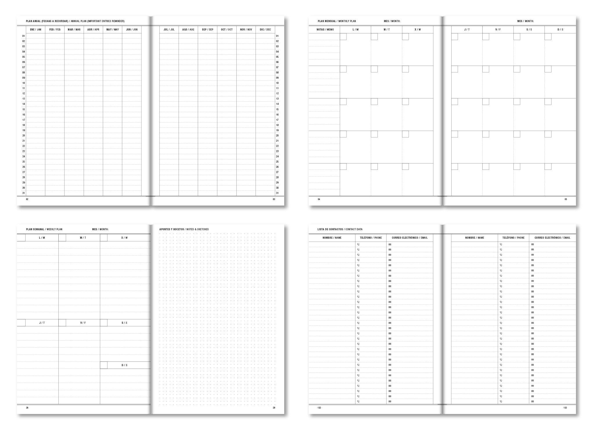 Contamos ya con varias estructuras predise±adas para fechas cerradas o el calendario académico 2018