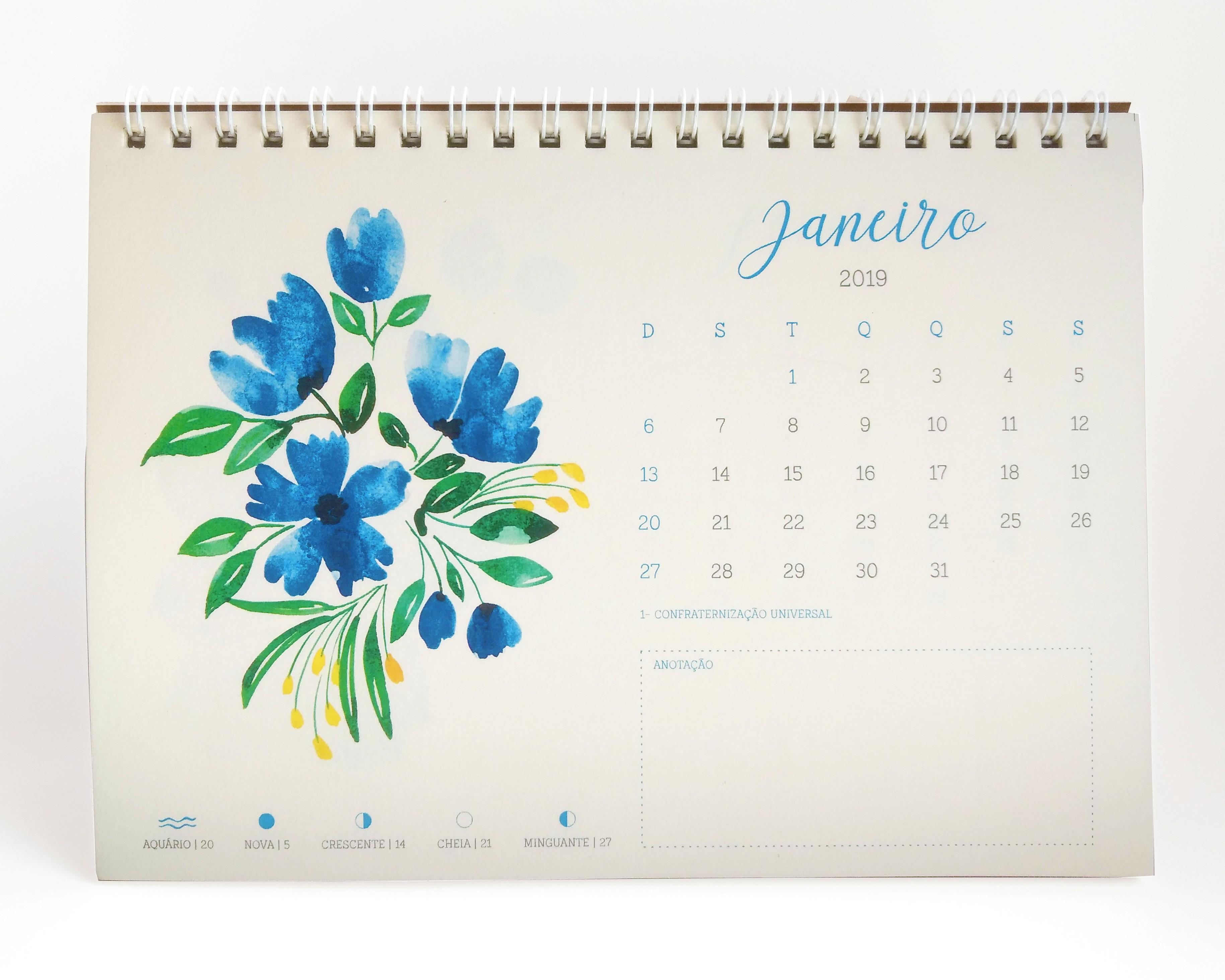 calendario 2019 floral e borboletas calendario 2019