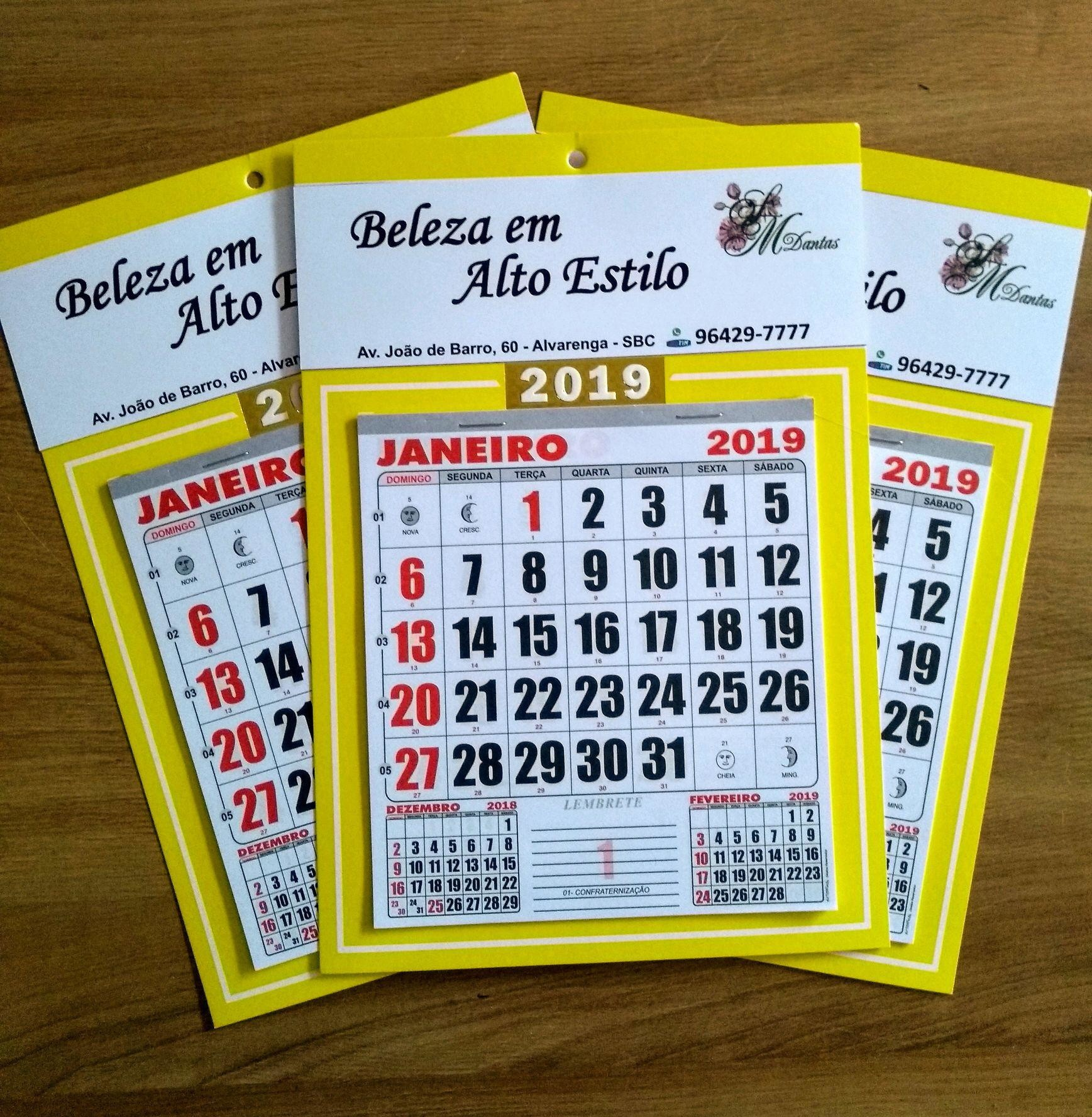 Calendario Para Imprimir 2019 Dezembro Recientes Calendário Para Clientes