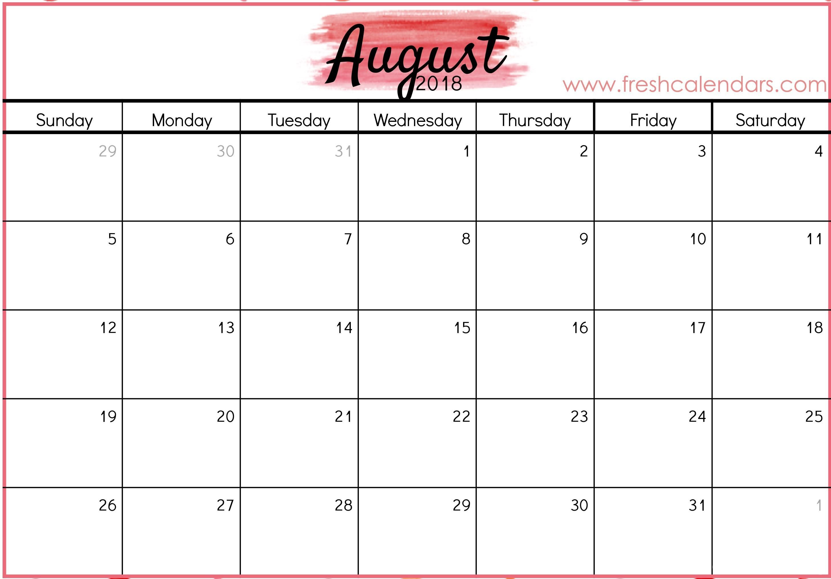 Labeled August Calendar Printable 2016 2017 Free 86 January 2018 Calendar Printable Imom Imom Calendar 2018 April por calendario 2019 para imprimir